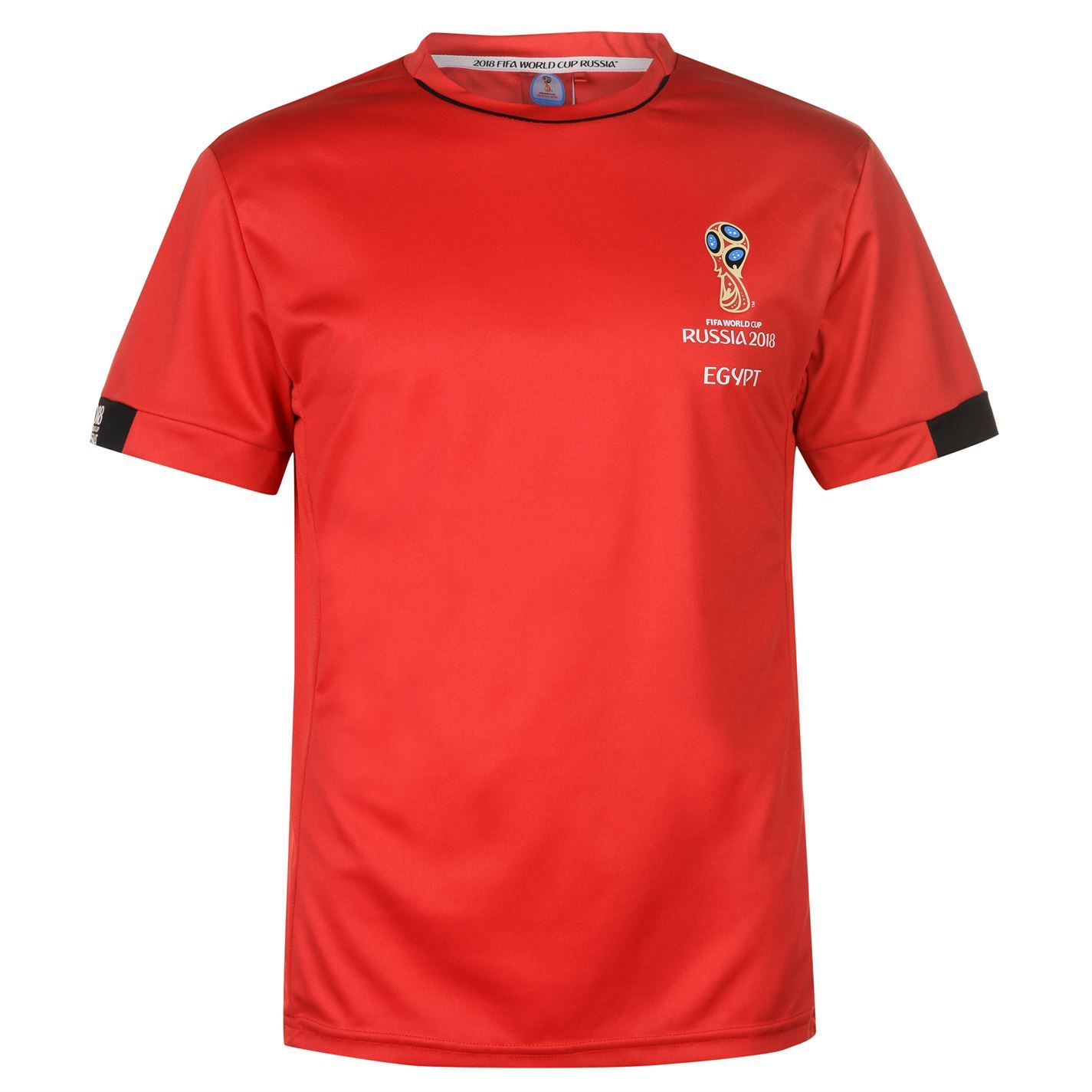 4fe03b198 Details about FIFA World Cup 2018 Egypt T-Shirt Mens Red Football Soccer  Top Tee Shirt
