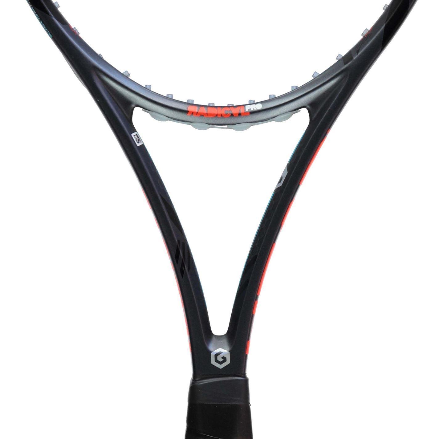 Détails Sur Head Graphène Xt Radical Pro Adulte Noire Orange Raquette De Tennis Sports