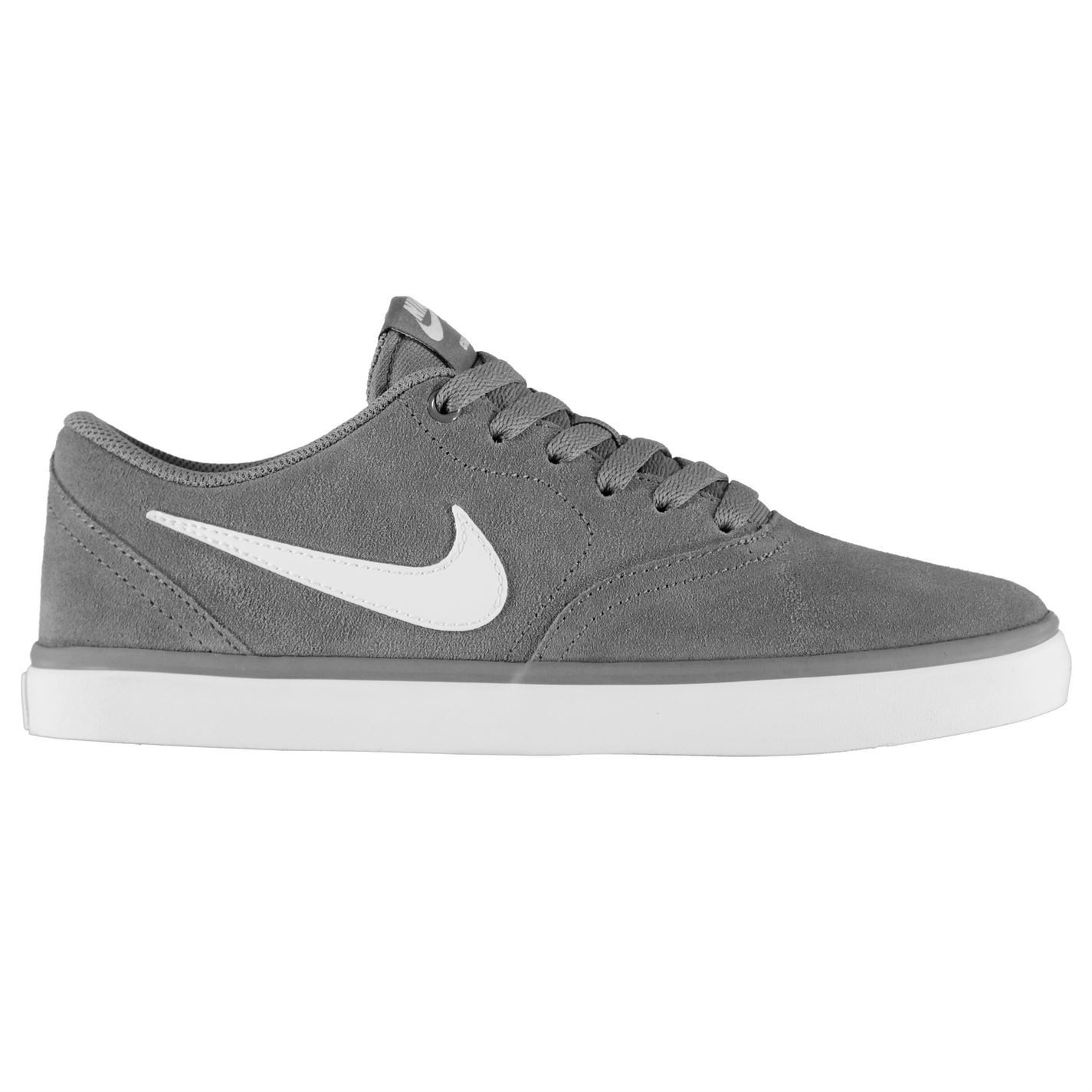 Volver a llamar Primer ministro Realista  Nike SB Check Solar Skate Shoes Mens Grey/White Skateboarding Trainers  Sneakers | eBay