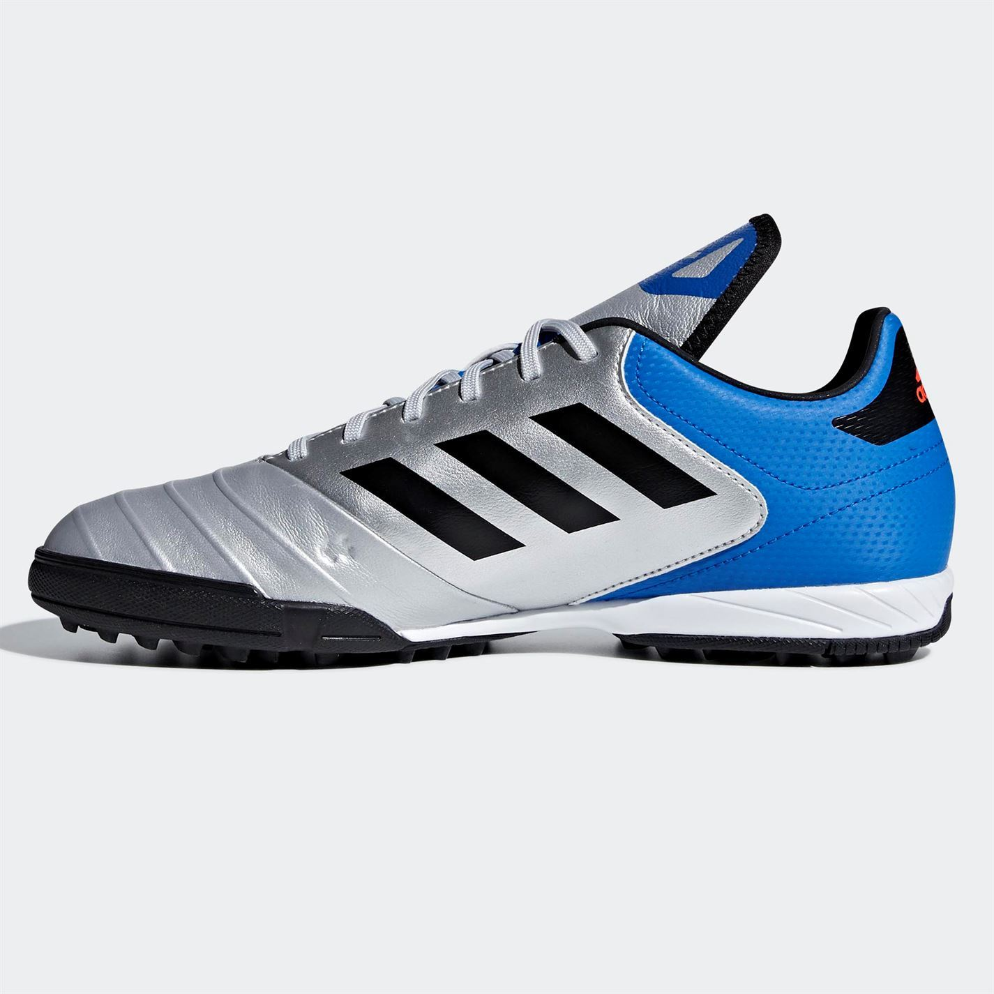 ... adidas Copa Tango 18.3 Astro Turf Football Trainers Mens Silver Soccer  Shoes f04cd4163c