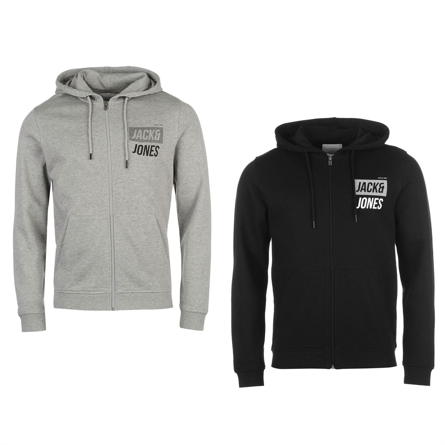 7afb483c4 Jack & Jones Core Identity Full Zip Hoody Jacket Mens Hoodie Sweatshirt  Sweater