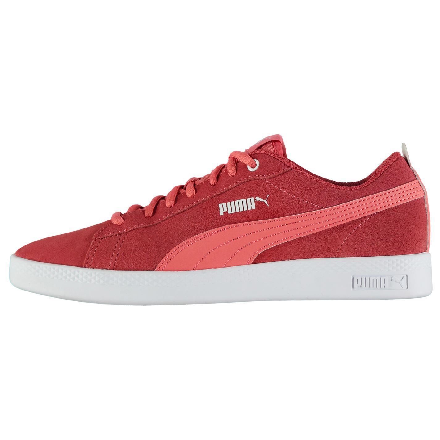 cddf8e530fac1f ... Puma Smash Suede Trainers Womens Red Sports Trainers Sneakers ...
