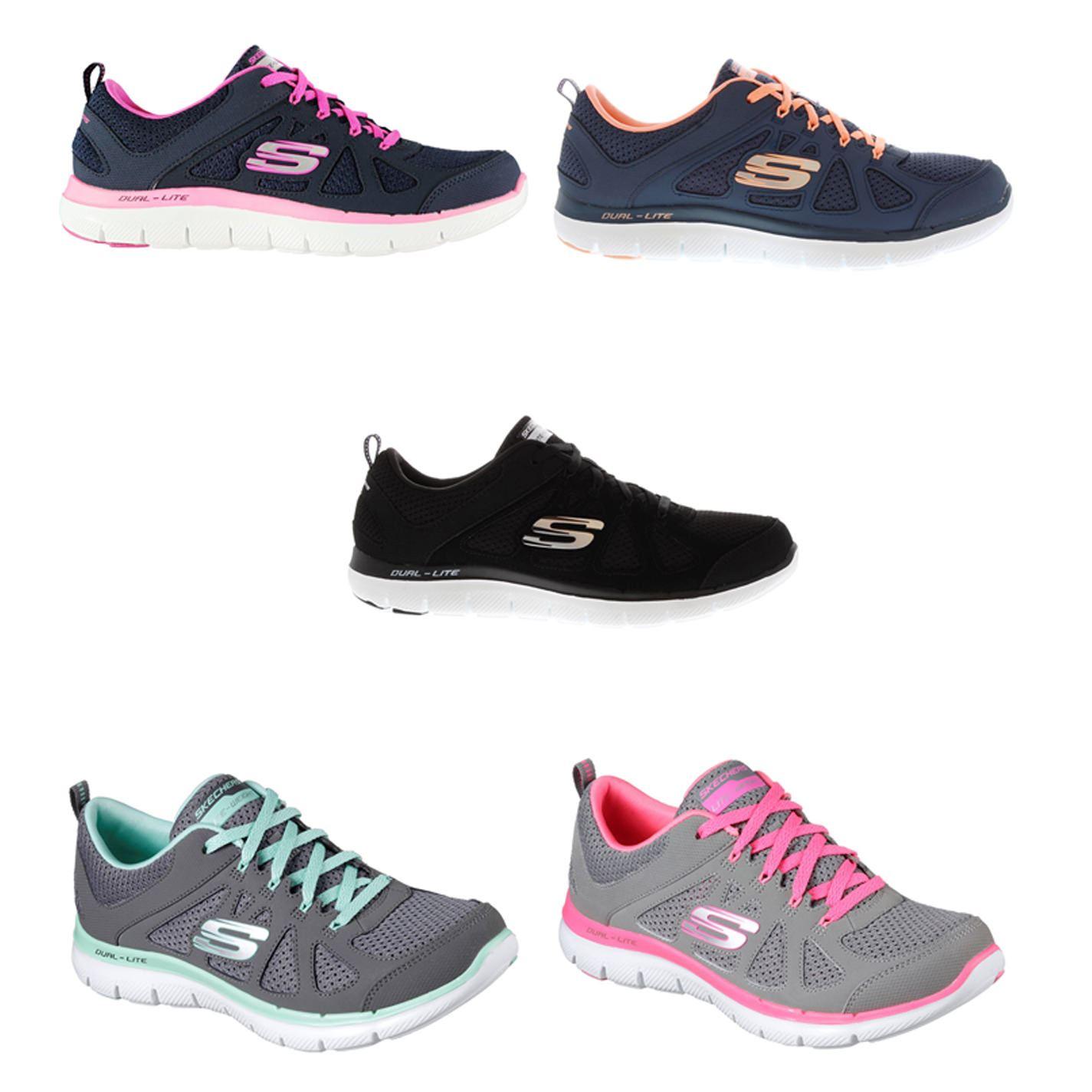Détails sur Skechers Flex Appeal Baskets Chaussures pour Femmes Femmes Chaussures