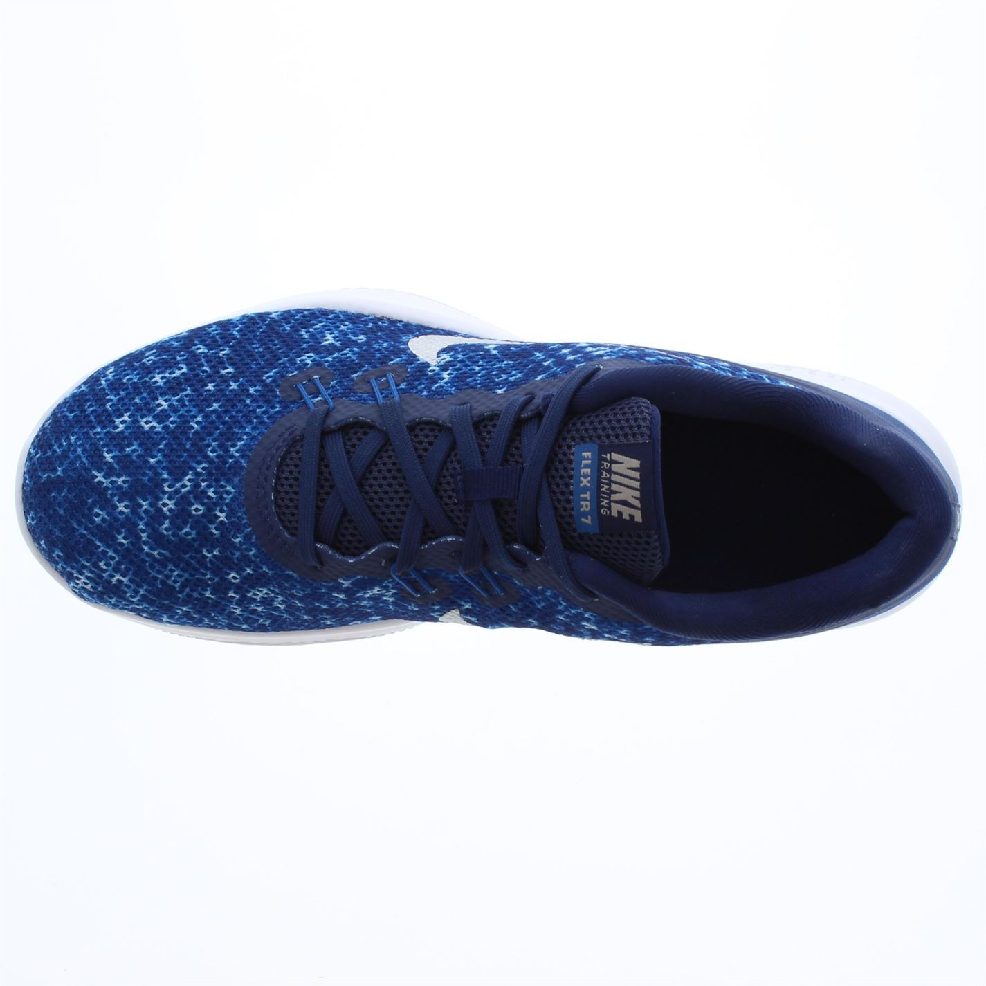 a3d72114e98 ... Nike Flex TR7 Print Fitness Training Shoes Womens Blue Silver Trainers  Sneakers