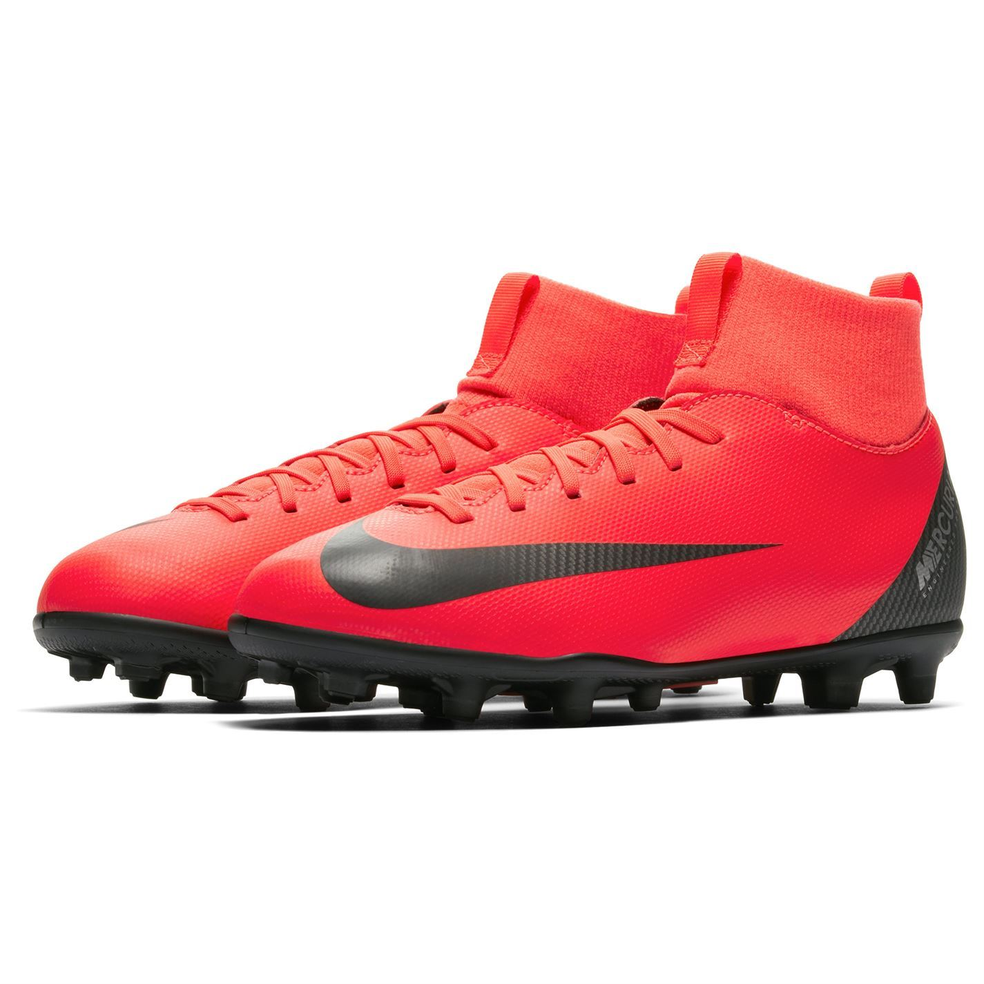 5965a7c01f1 ... Nike Mercurial Superfly Club CR7 FG Football Boots Juniors Red/Blk  Soccer Cleats ...