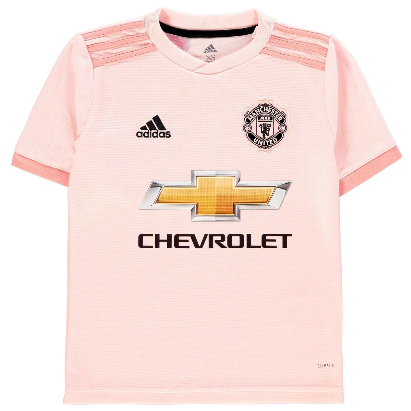 official photos bbe8f 218af Details about adidas Manchester United Away Jersey 2018 2019 Juniors Pink  Football Soccer Top