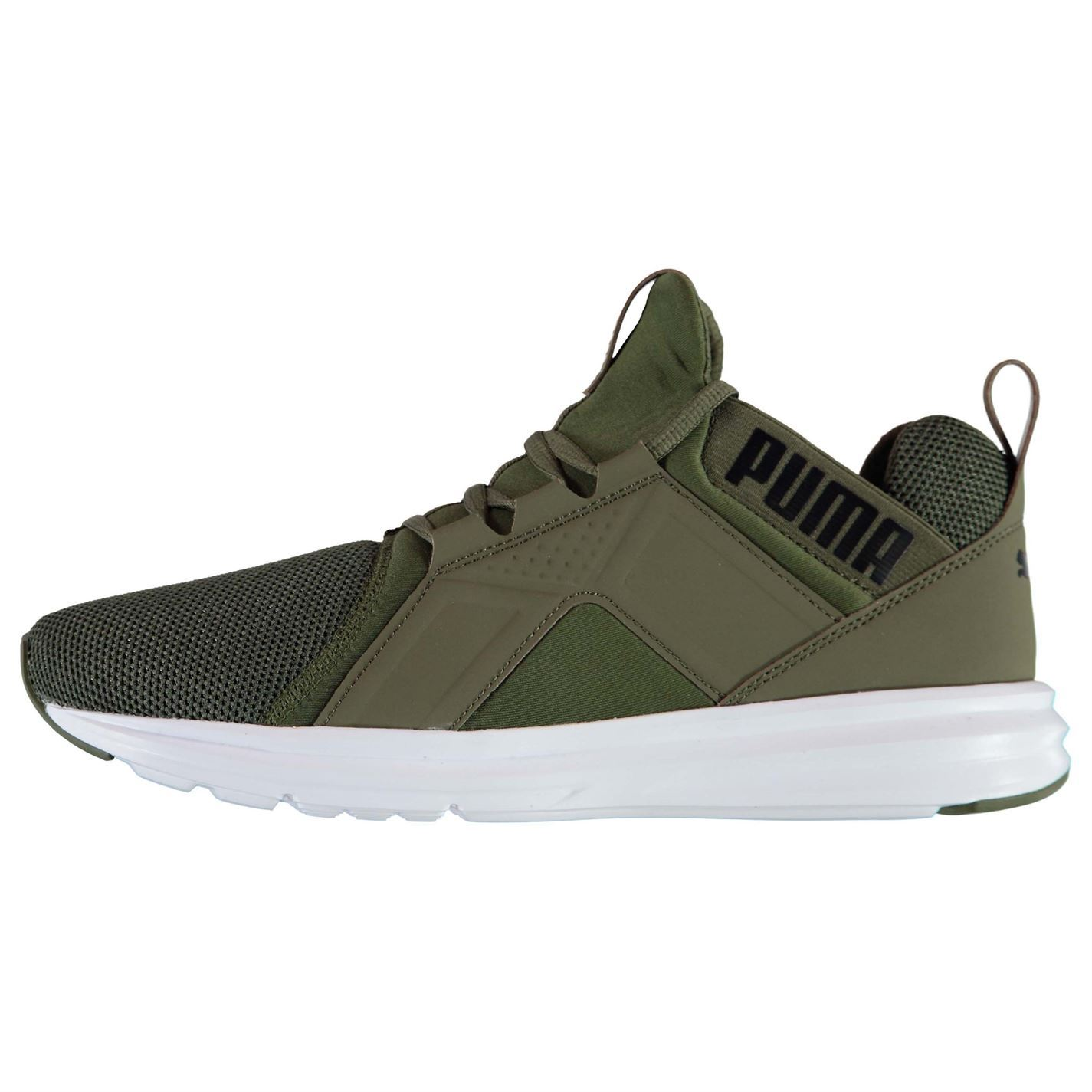 7fb46454fc74 ... Puma Enzo Mesh Runners Trainers Mens Olive Athletic Sneakers Shoes ...