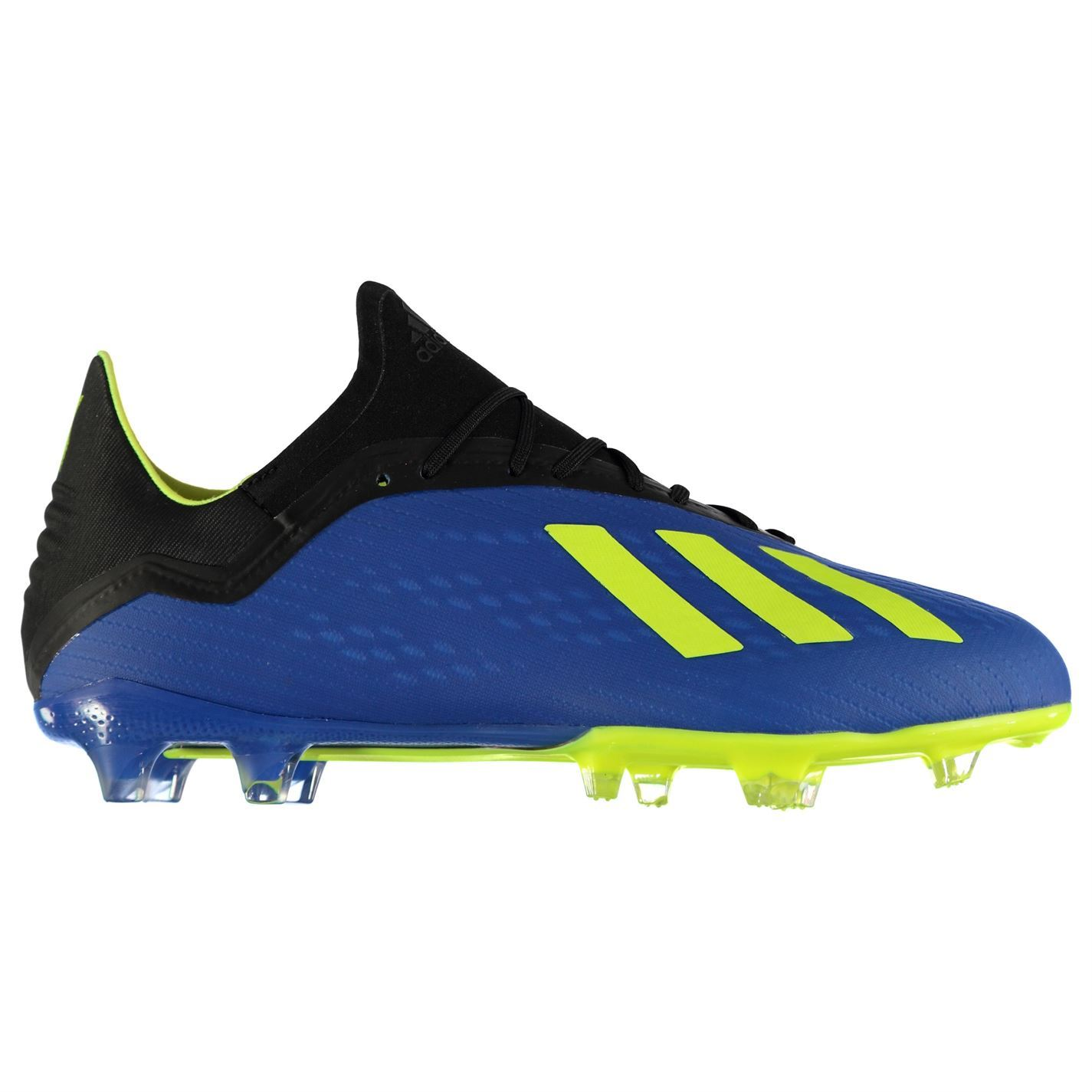 aa5645066e6 adidas X 18.2 FG Firm Ground Football Boots Mens Blue Soccer Shoes Cleats