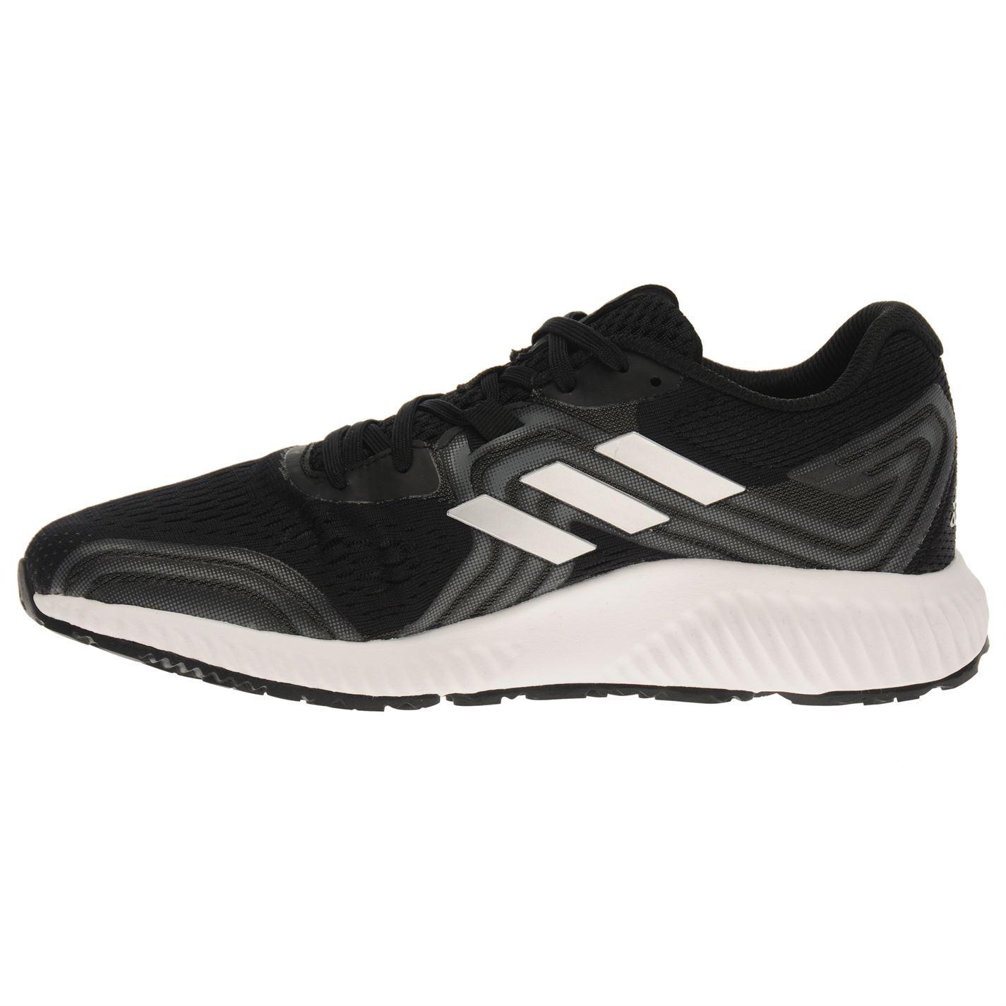 Detalles de Adidas Aero Rebotar 2 Zapatillas Running Hombre Negro Fitness Trote