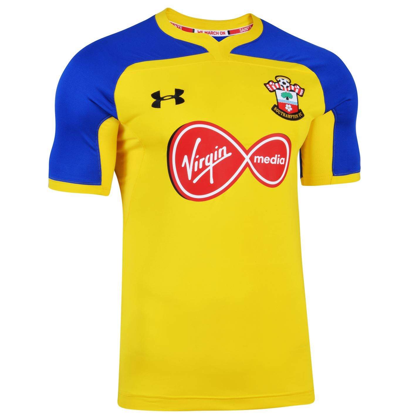 get cheap 51123 6c96f Details about Under Armour Southampton Away Jersey 2018-19 Mens Yellow  Football Soccer Shirt