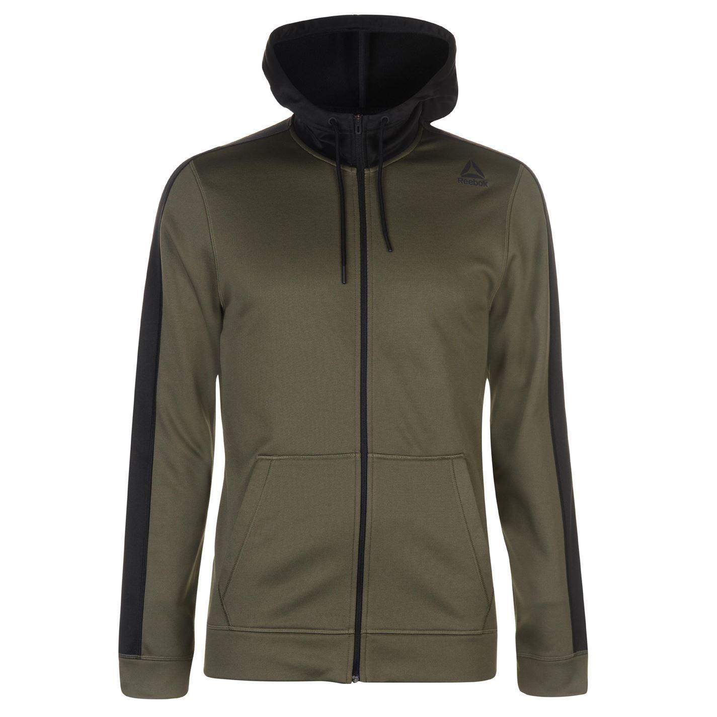 Reebok Elite Full Zip Hoody Jacket Mens Hoodie Sweatshirt Sweater ... 78f042183