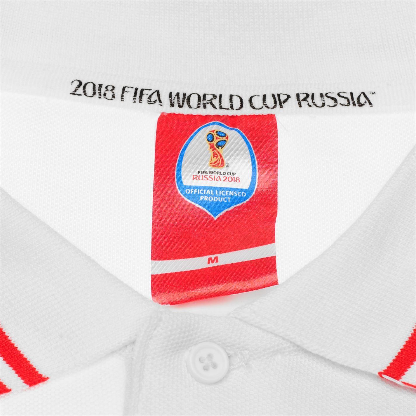 miniature 19 - FIFA Coupe du monde 2018 Angleterre Polo Shirt Homme Football Soccer Top T-Shirt Tee