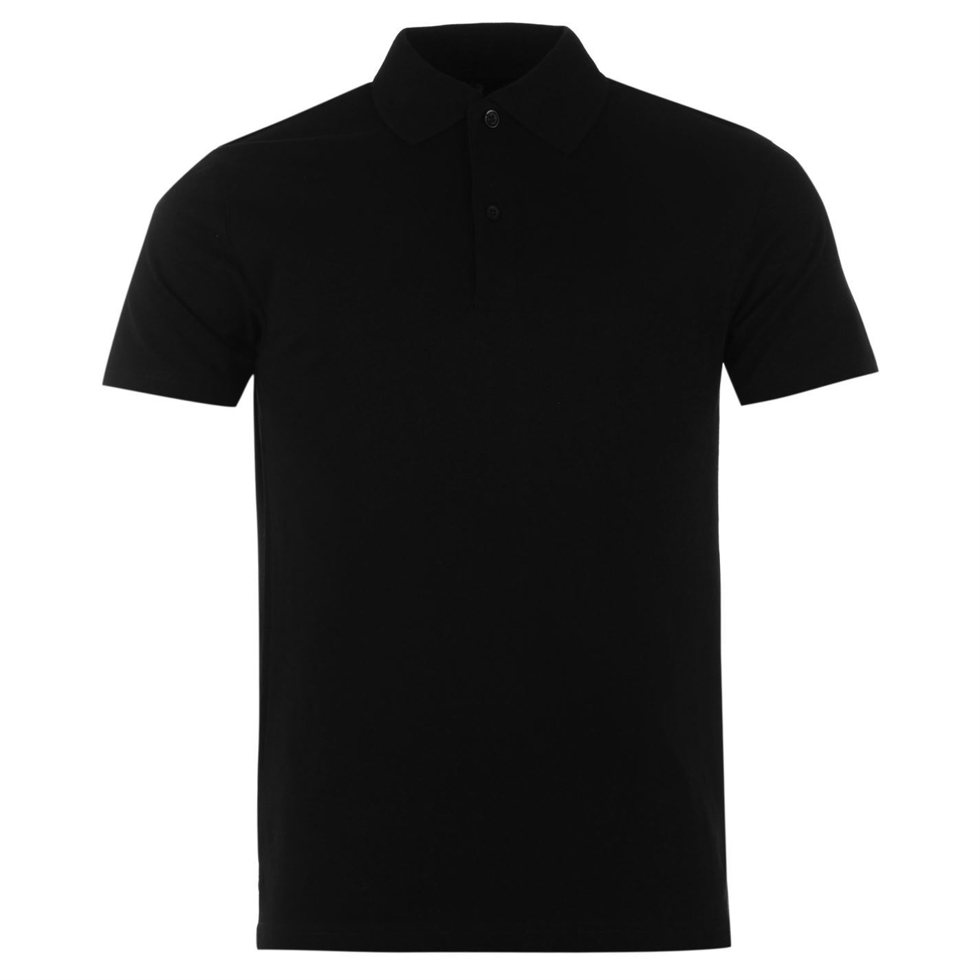 61c2aad4703 Details about Donnay Two Pack Polo Shirt Mens Black Collared T-Shirt Top  Tee Sportswear