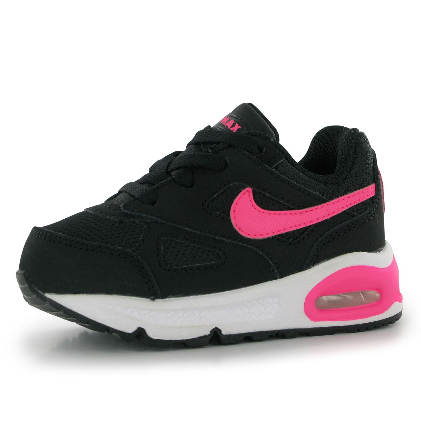 Nike Air Max Ivo Trainers Infants Girls Black Pink Baby Sneakers