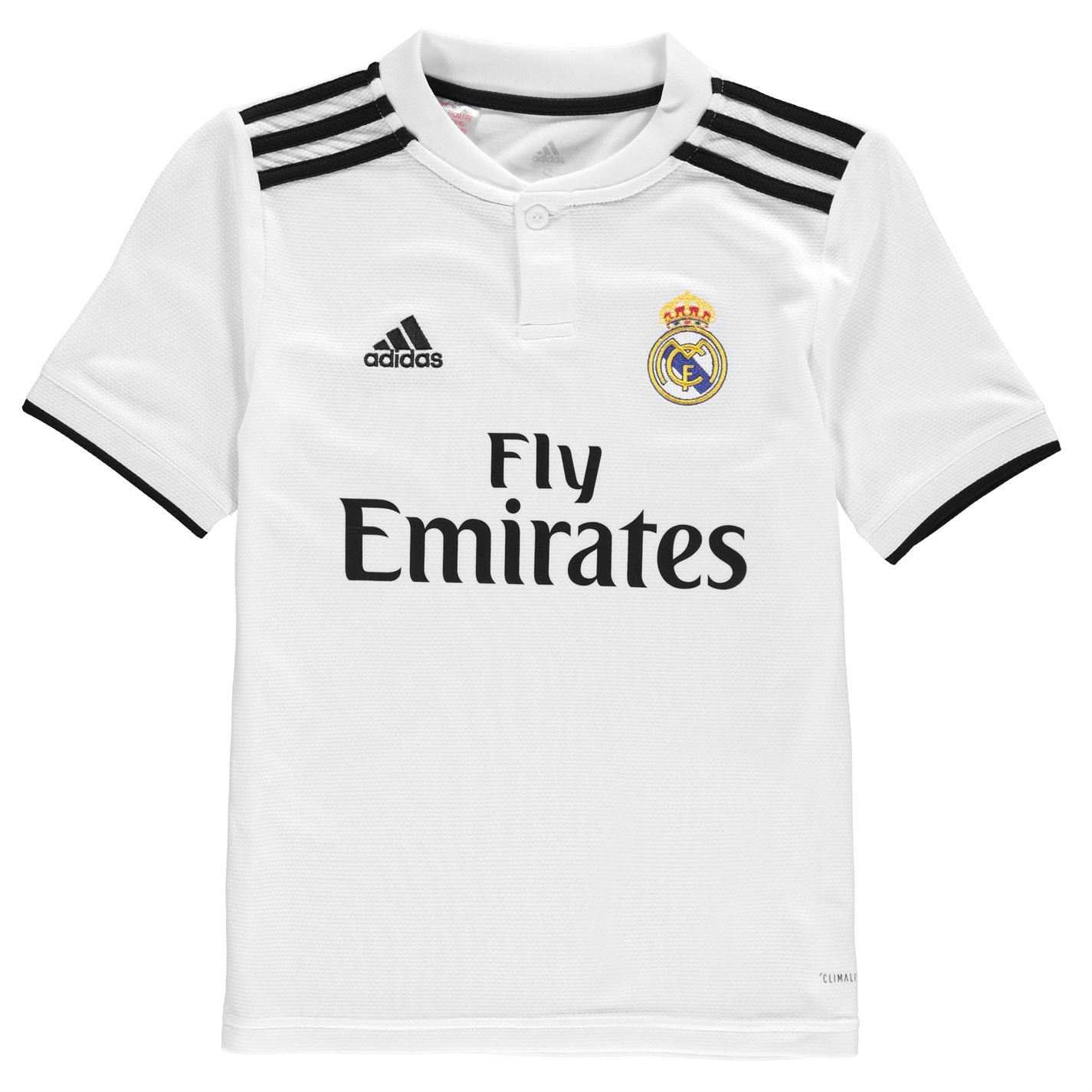 1074b2aa814 Image is loading adidas-Real-Madrid-Home-Jersey-2018-2019-Juniors-