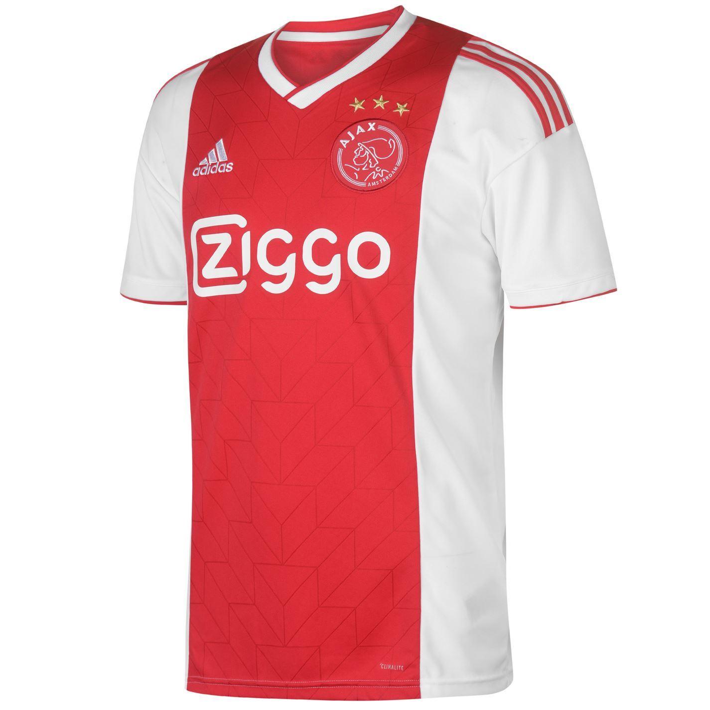 7b1ed385 ... adidas Ajax Home Jersey 2018 2019 Mens Red/White Football Soccer Fan  Shirt Top ...