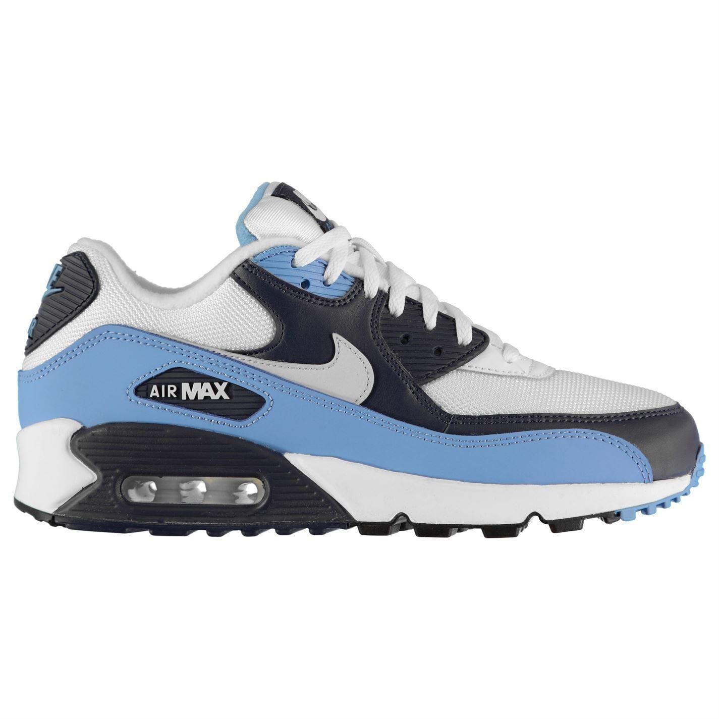 Dettagli su Nike Air Max 90 Ginnastica Bianco Uomo Platino Moda Casual con Lacci Imbottito