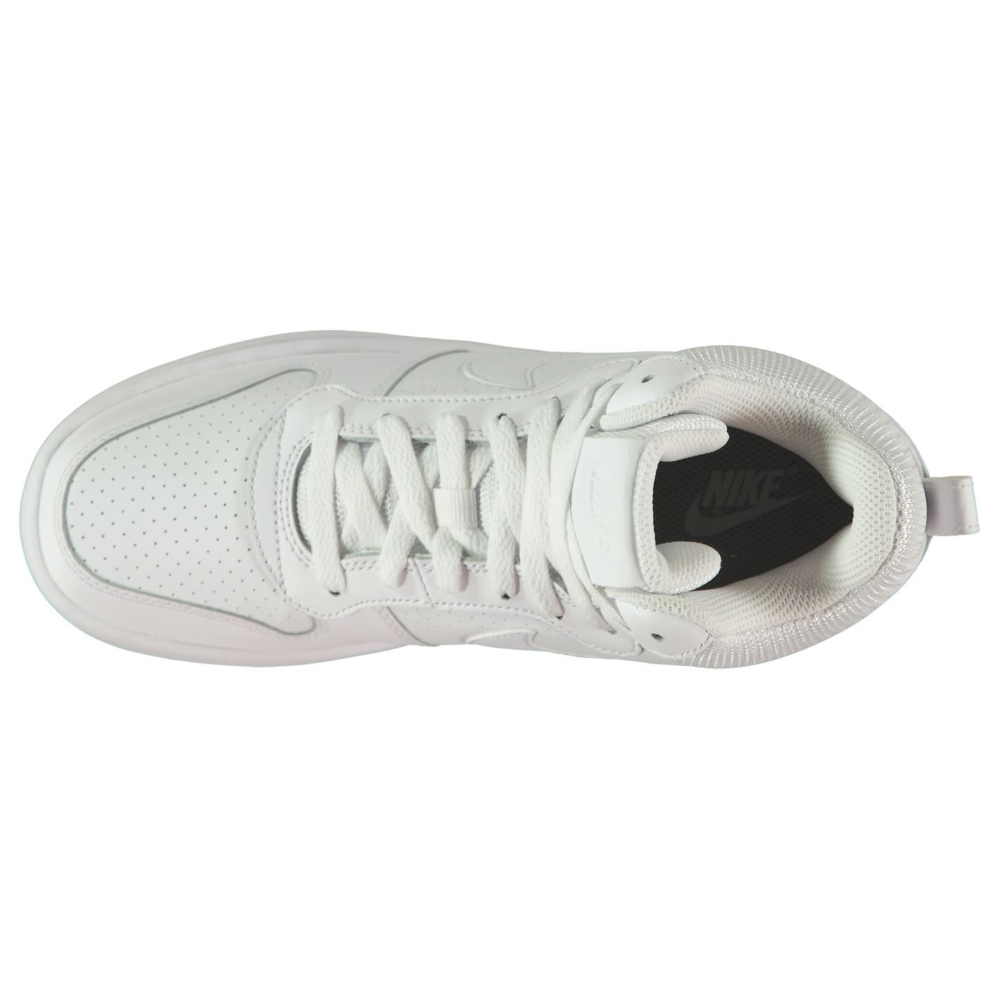 ... Nike Court Borough Mid Top Trainers Womens White Sports Trainers  Sneakers 3e9e6bb067cb8