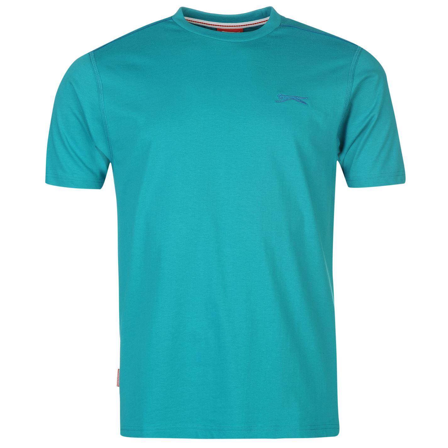 1c5f26457e Details about Slazenger Plain T-Shirt Mens Teal Blue Sportswear Top Tee  Shirt