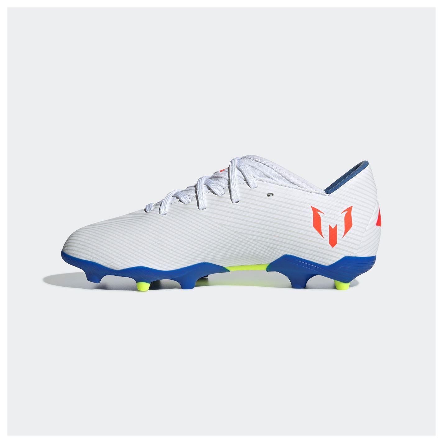 Adidas scarpe da calcio messi 15,3 fg junior whiteblue