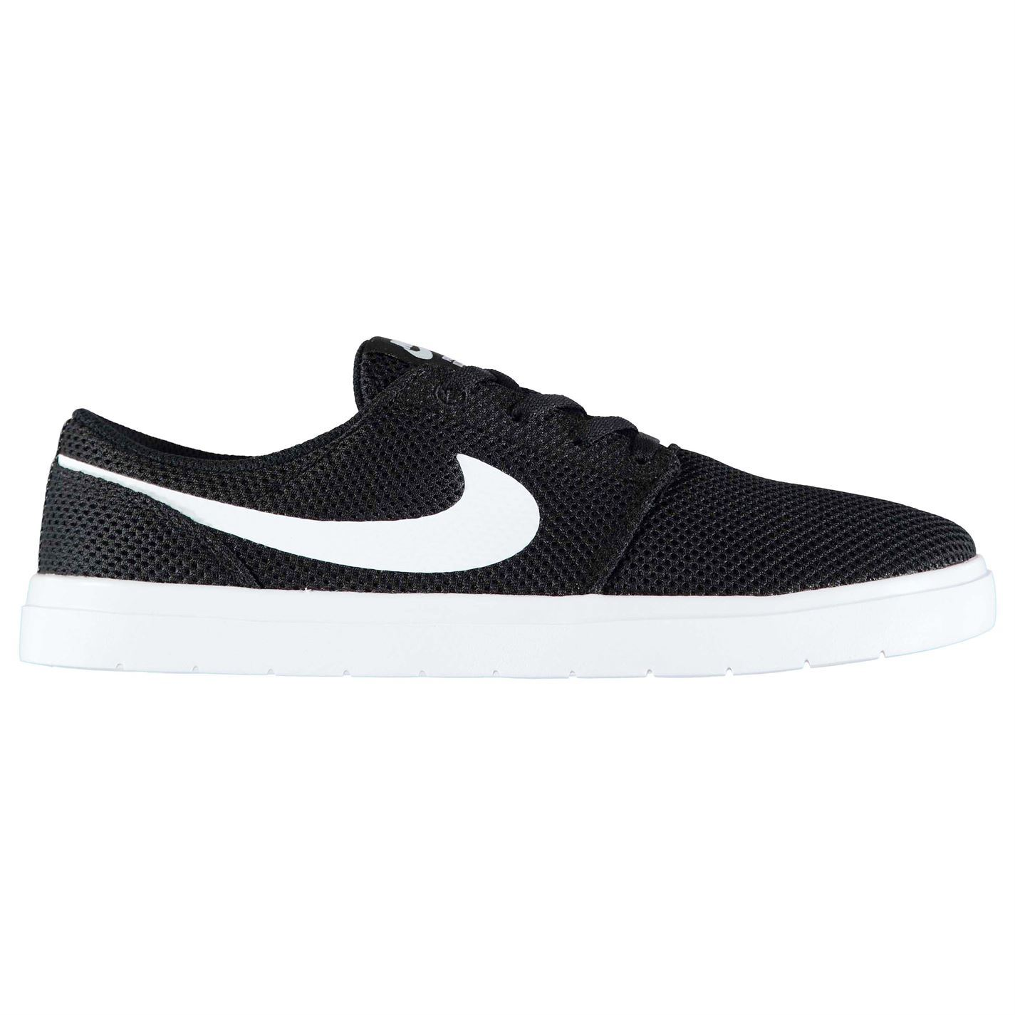 on sale 644f7 1b436 Nike SB Portmore II Ultralight Skate Shoes Mens Black White Trainers  Sneakers