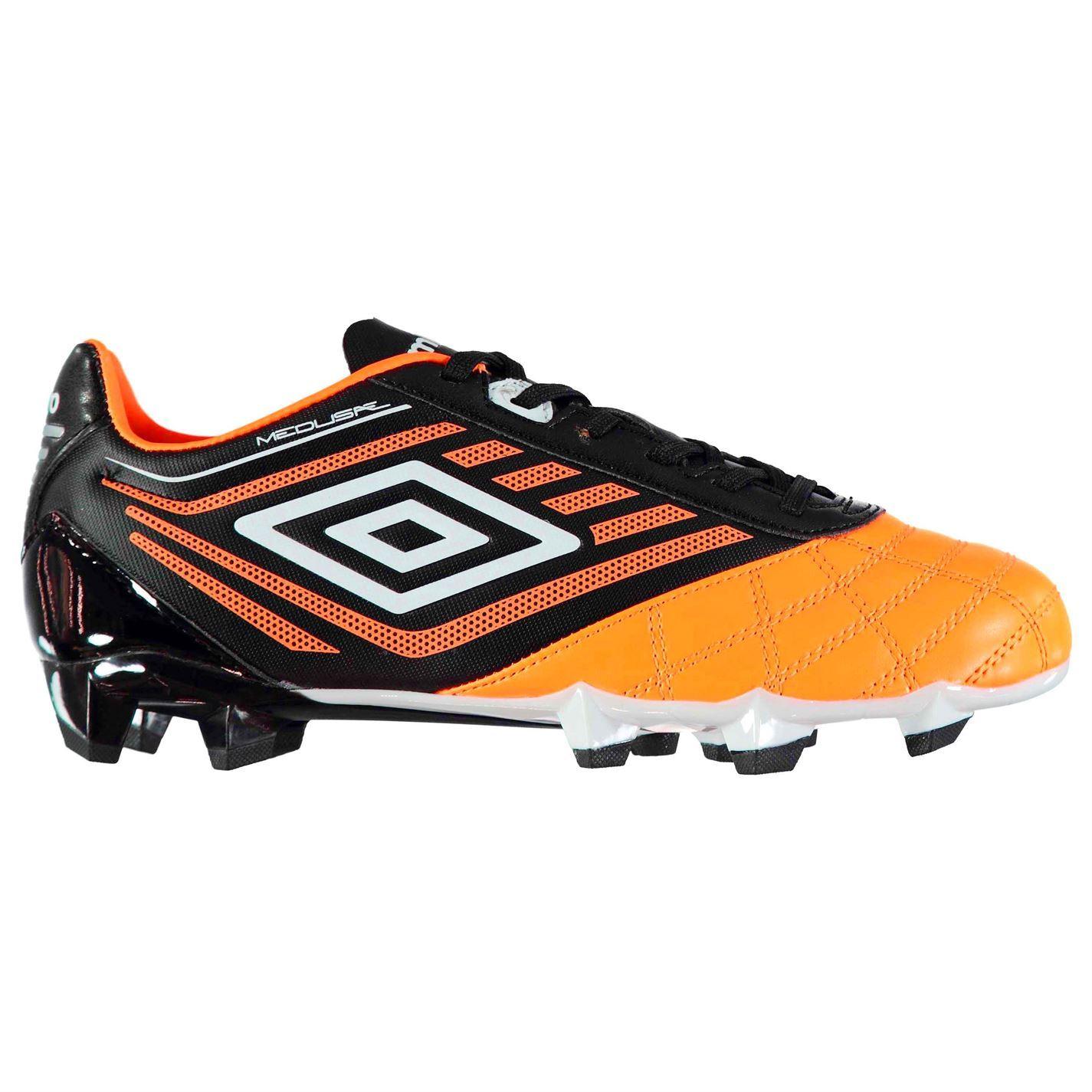... Umbro Medus Club FG Firm Ground Football Boots Mens Or Blk Soccer  Cleats Shoes ... 707b13e8b7