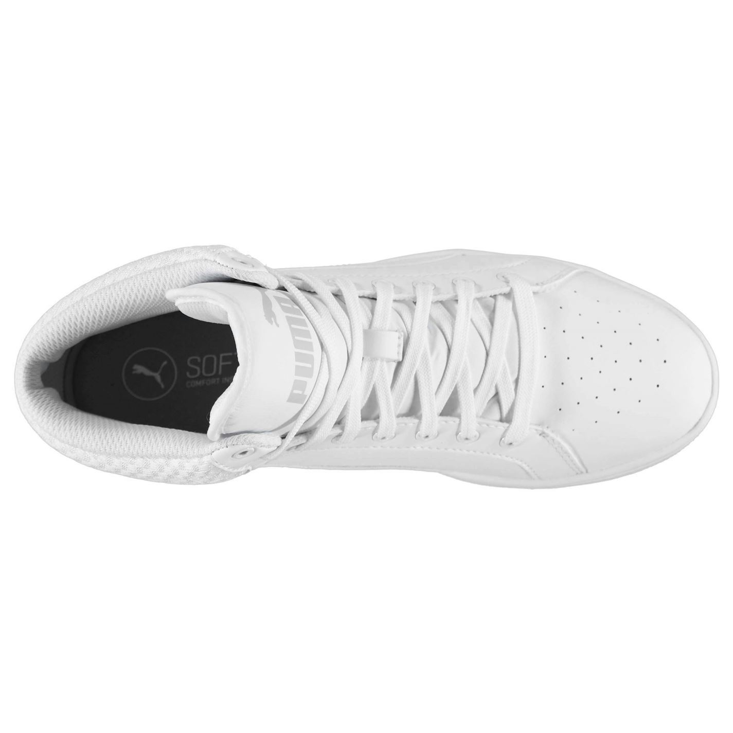 Puma Ikaz Mid Top Trainers Womens White Sports Trainers Sneakers  b12d0c11f