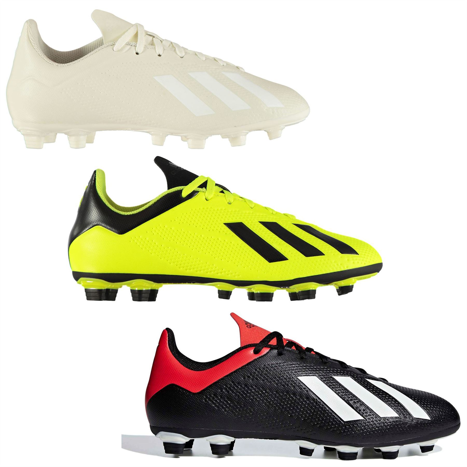 ... adidas X 18.4 FG Firm Ground Football Boots Mens Soccer Shoes Cleats ... 0920c13b46937