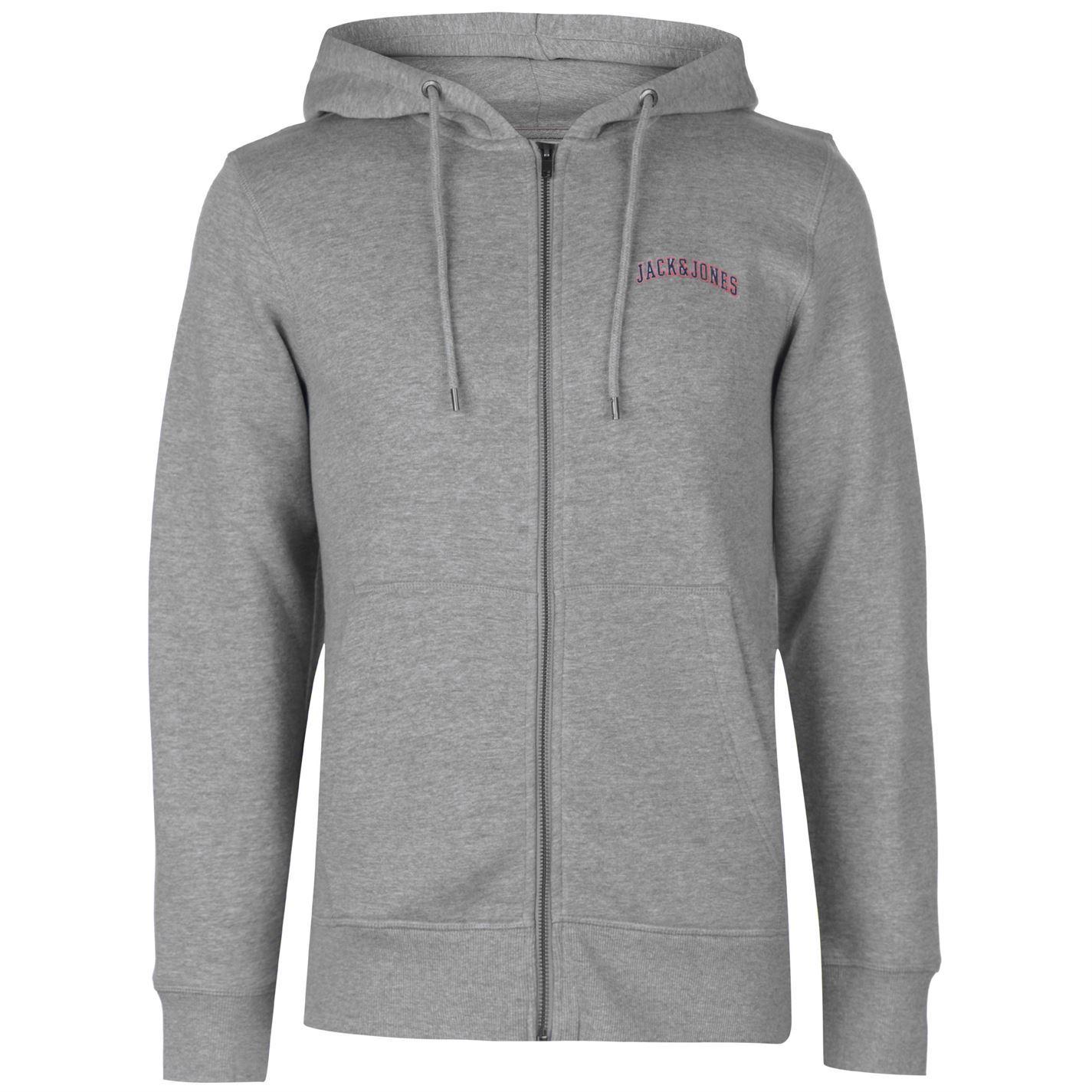 Jack-and-Jones-Originals-Harvey-Zip-Hoodie-Mens-Hooded-Top-Sweater-Outerwear thumbnail 3