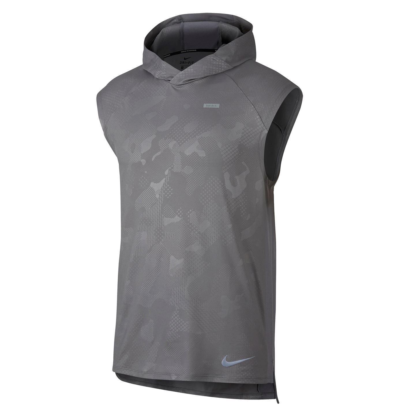 58488059 ... Nike Element Sleeveless Running Hoodie Mens Singlet Tops Vest Grey  X-Large