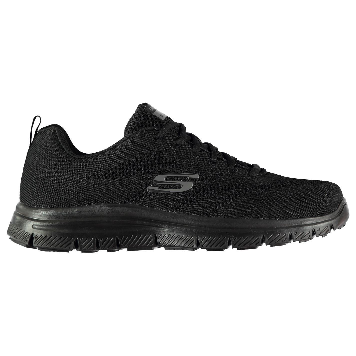 Skechers Memory Foam Knit Shoes Mens Athleisure Footwear Trainers