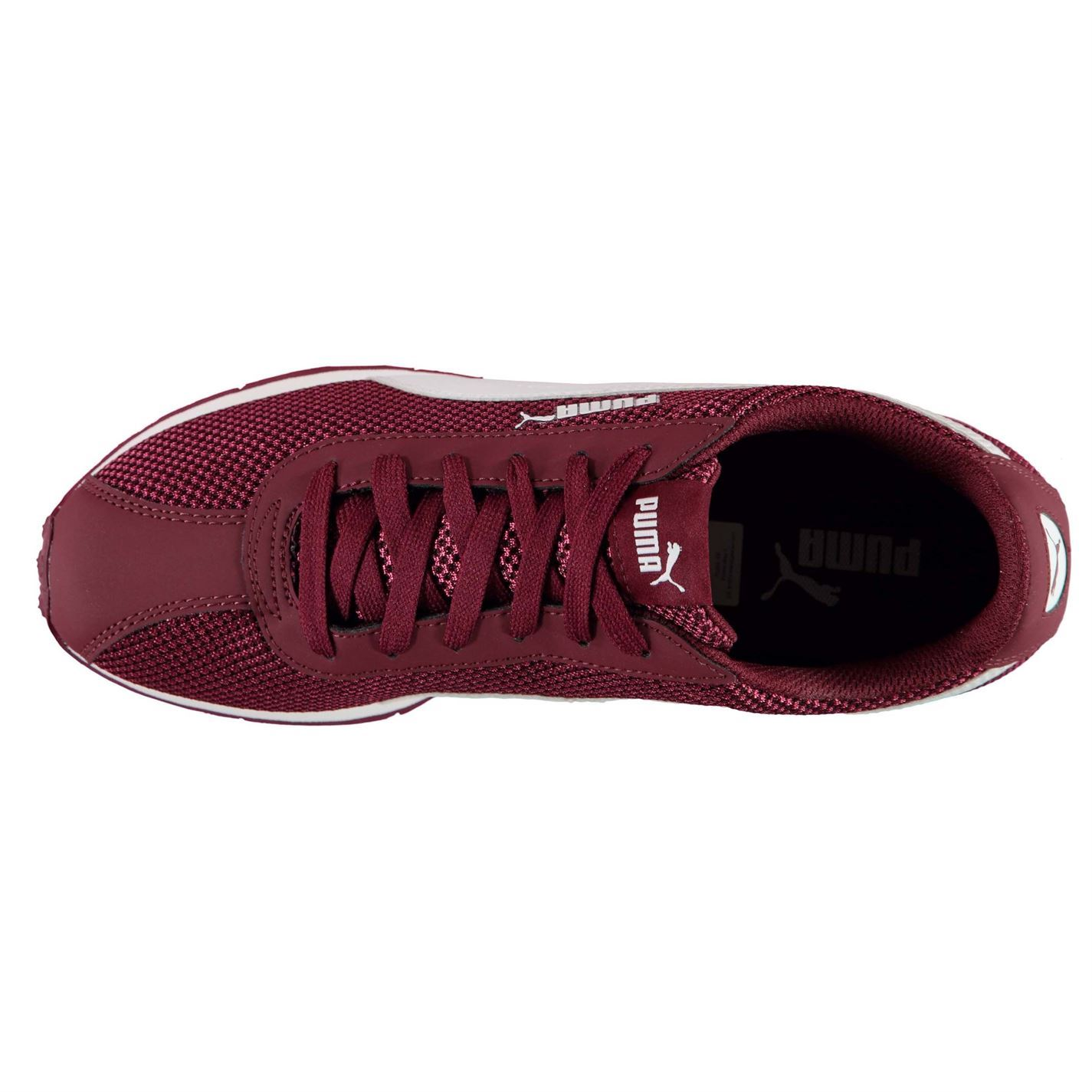 ... Puma Turin Mesh Trainers Mens Burgundy Athletic Sneakers Shoes c7690765006