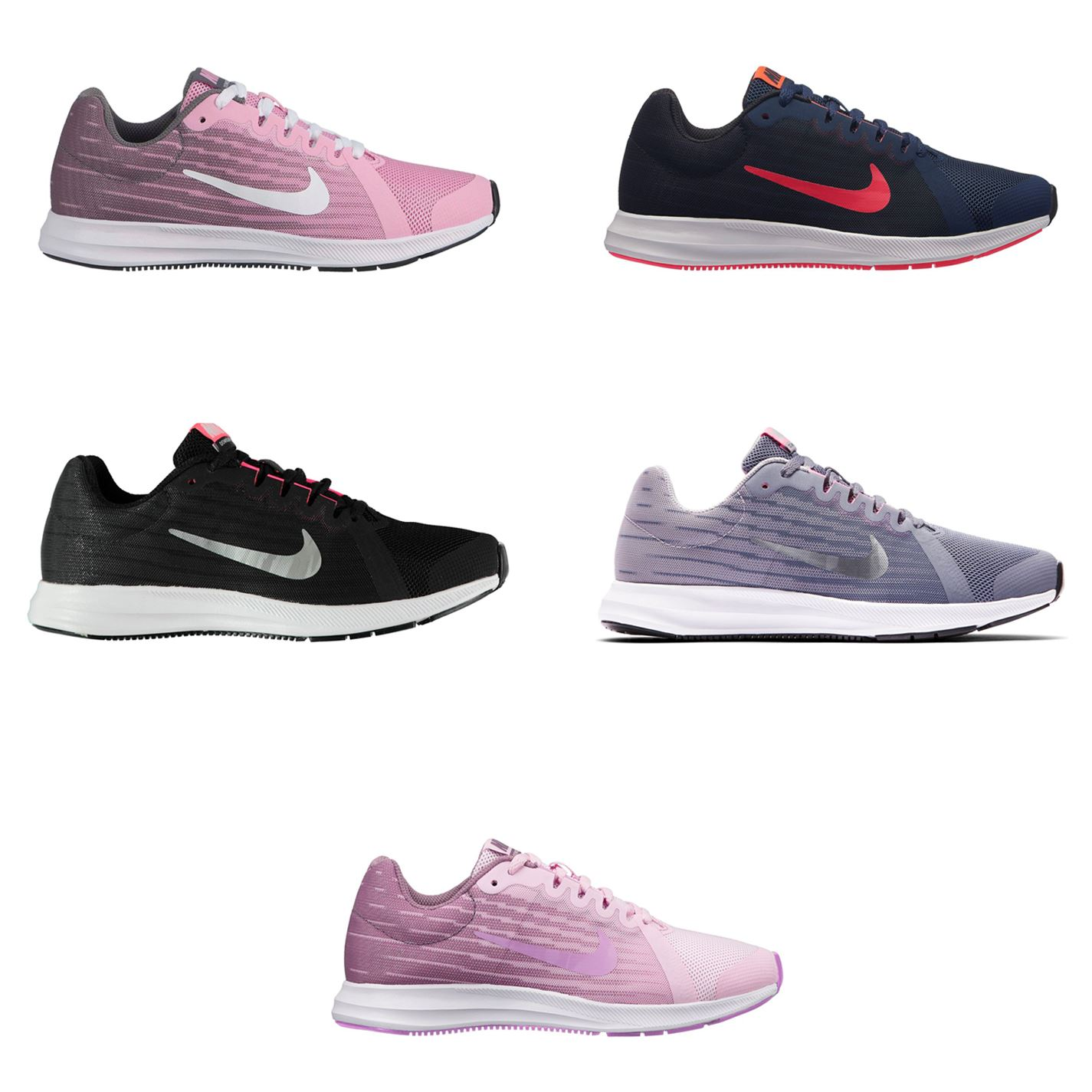 4a801581ad5d ... Nike Downshifter 8 Running Shoe Junior Girls Trainers Footwear ...