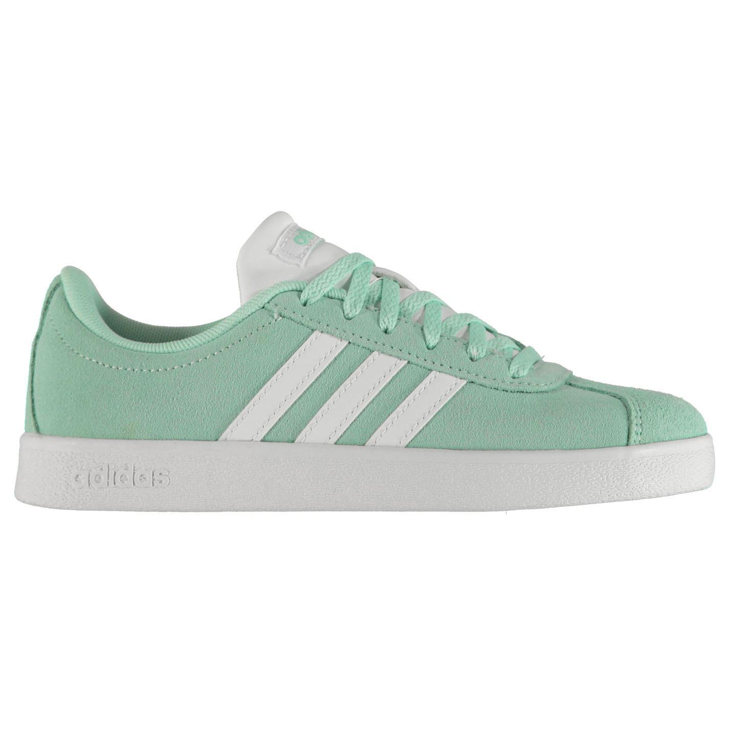 ... Adidas VL Court Suede scarpe bambino ragazze formatori calzature ... eb834bcf994