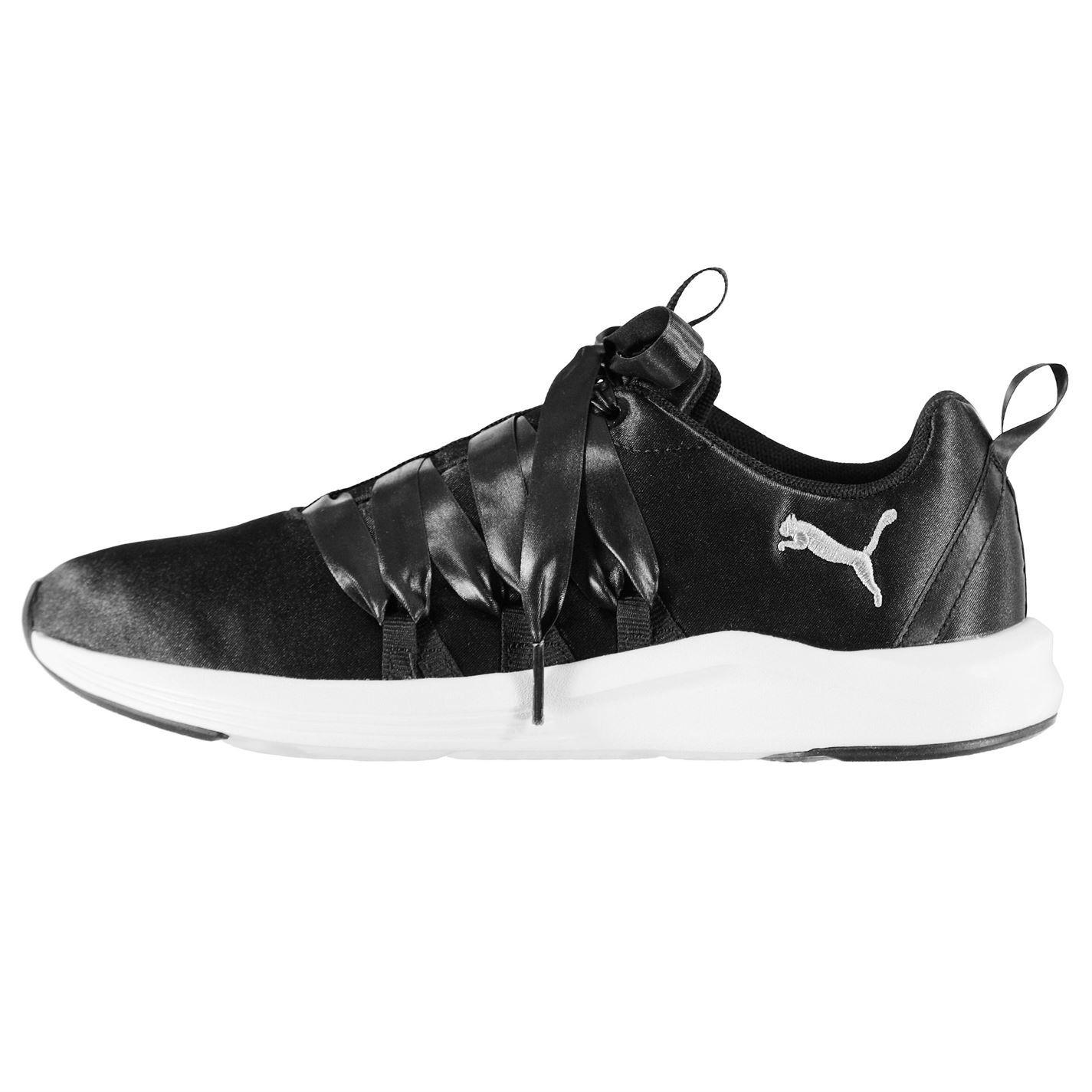 94e5989a4a7 Puma Prowl Alt Satin Fitness Training Shoes Womens Black White Gym Sneakers