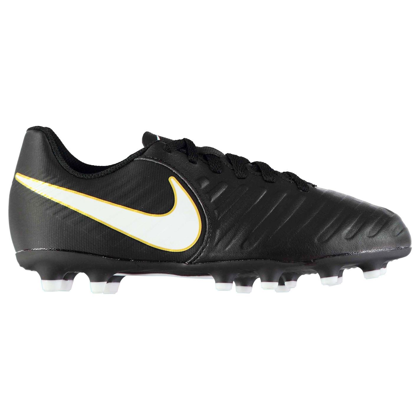 e8b705fde ... Nike Tiempo Rio FG Firm Ground Football Boots Juniors Black White Soccer  Cleats ...