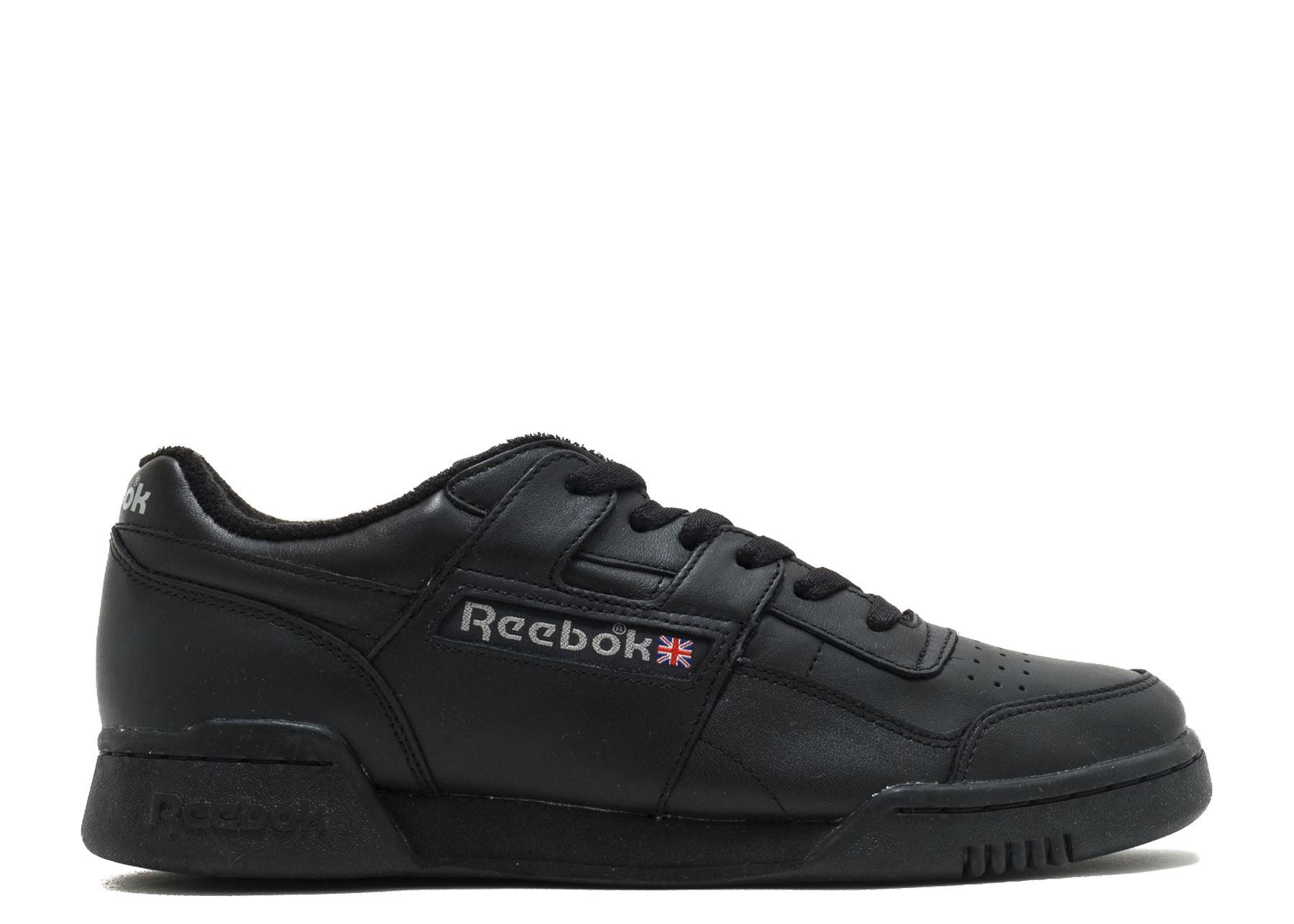 Reebok Workout Plus Vintage Trainers Mens Black Sneakers