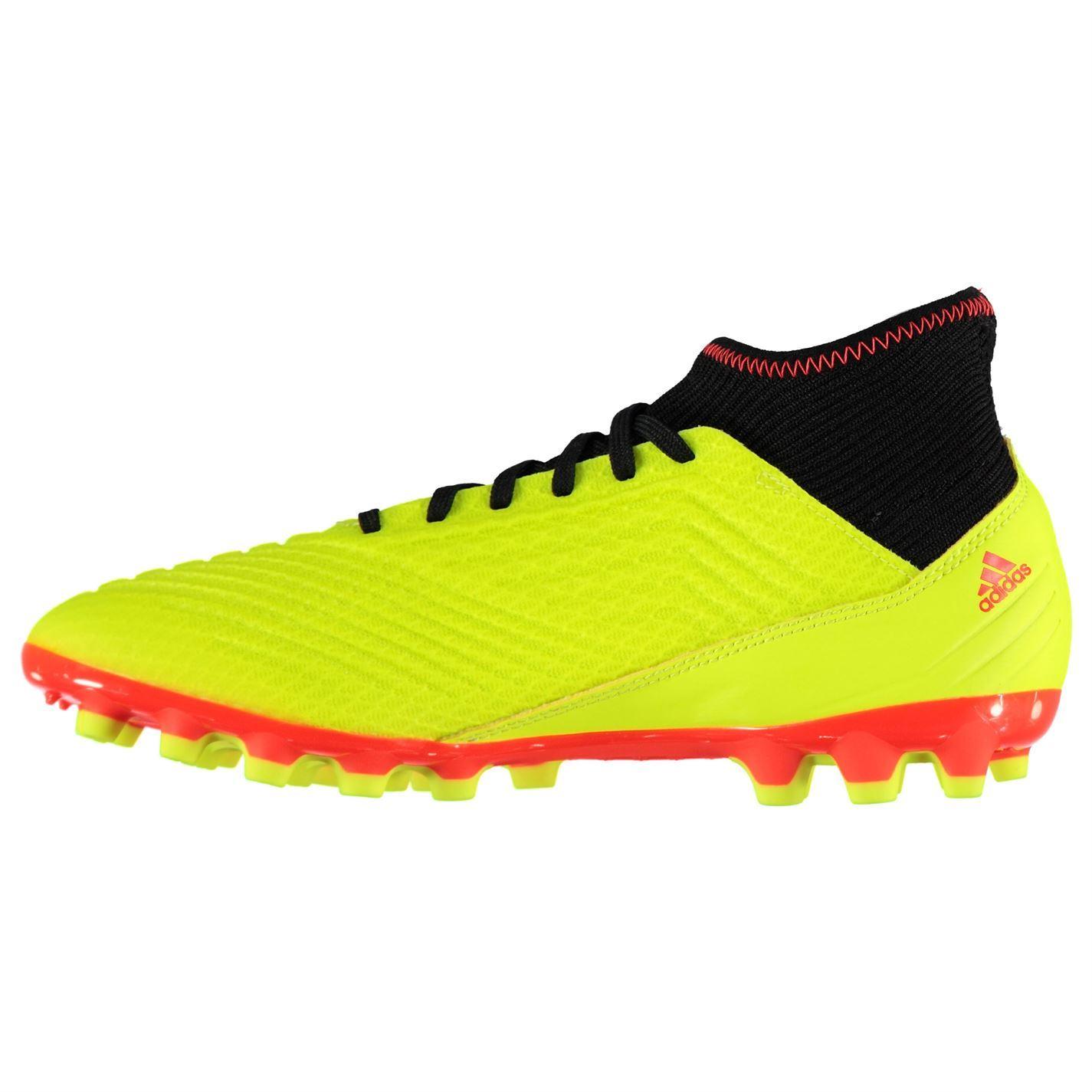 6aeec8b4f adidas Predator 18.3 AG AG Football Boots Mens Yellow Soccer Shoes Cleats