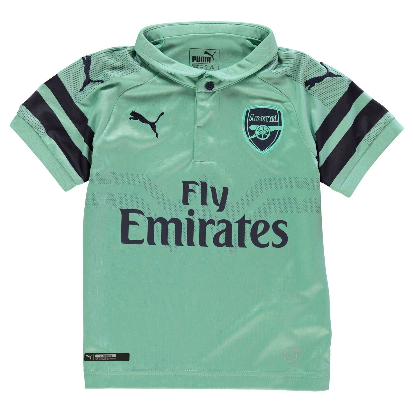 b51fa7b14 ... Puma Arsenal Third Jersey 2018 2019 Juniors Green Football Soccer Fan Shirt  Top ...