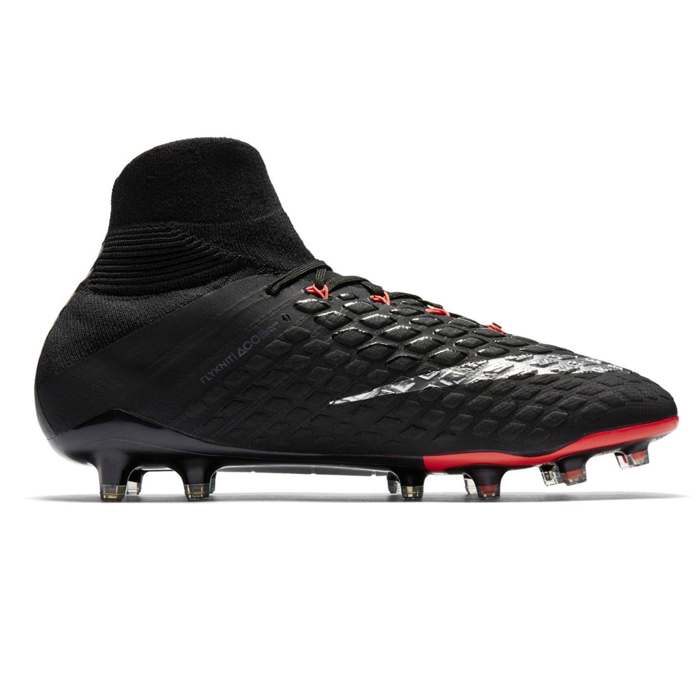 huge selection of 7c109 11556 ... Nike Hypervenom 3 Elite Dynamic Fit FG Football Boots Mens Black Soccer  Cleats