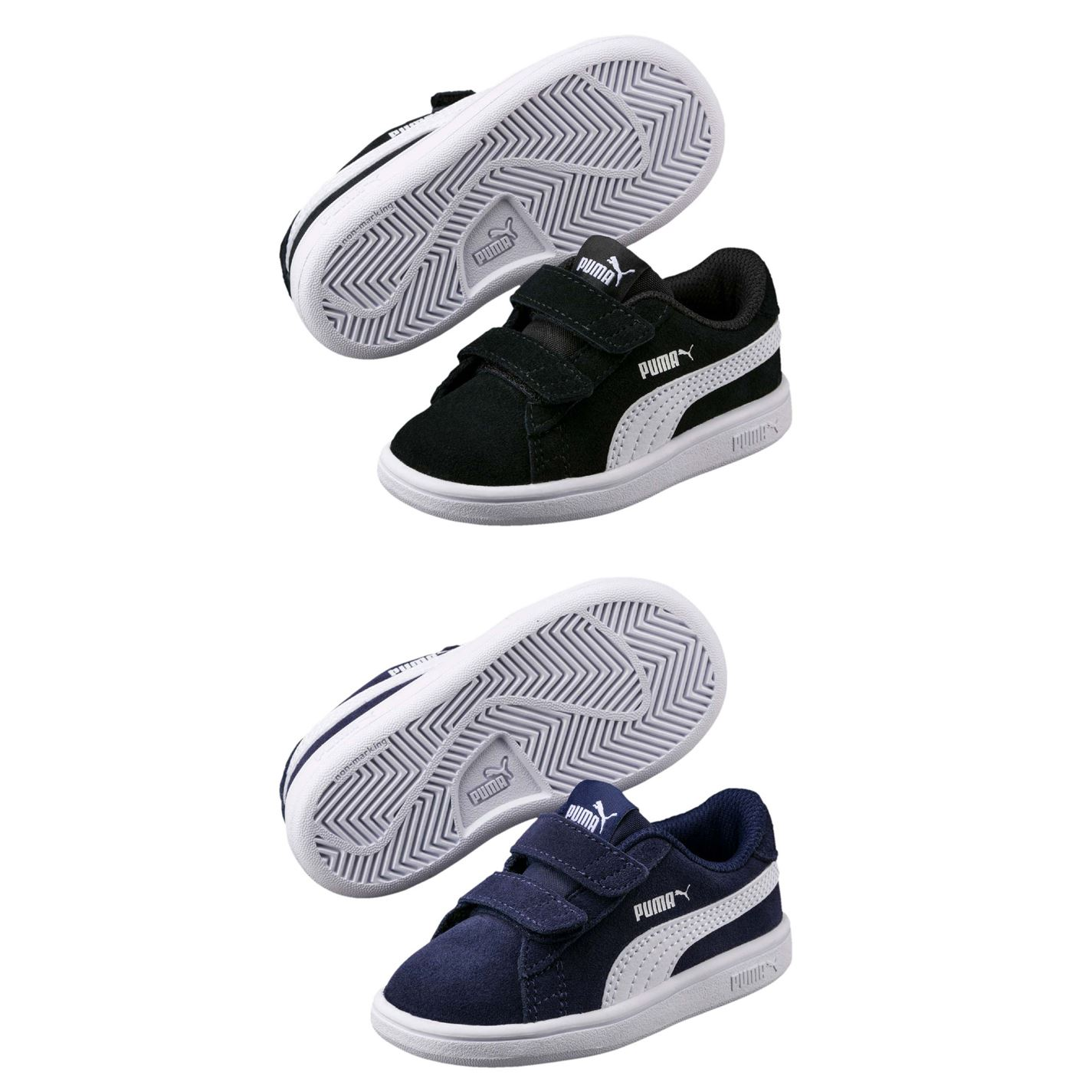 Details about Puma Smash Suede Child Boys Trainers Shoes Footwear