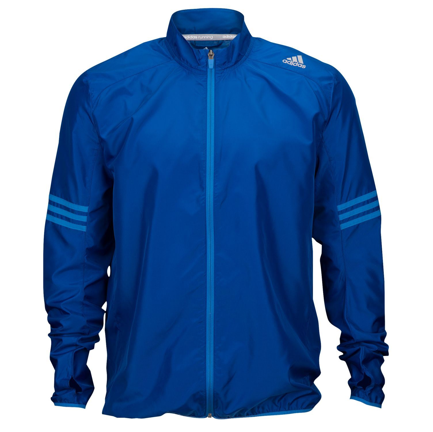 Details about adidas Response Wind Running Jacket Mens Blue Jogging Track Zip Top