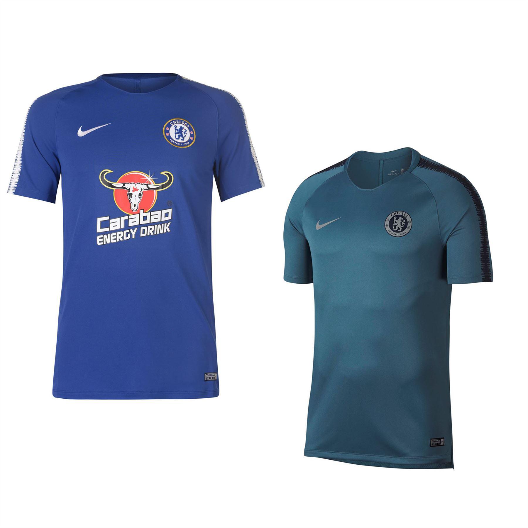 64058d10d ... Nike Chelsea Squad T-Shirt 2018 2019 Mens Football Soccer Fan Top Tee  Shirt ...