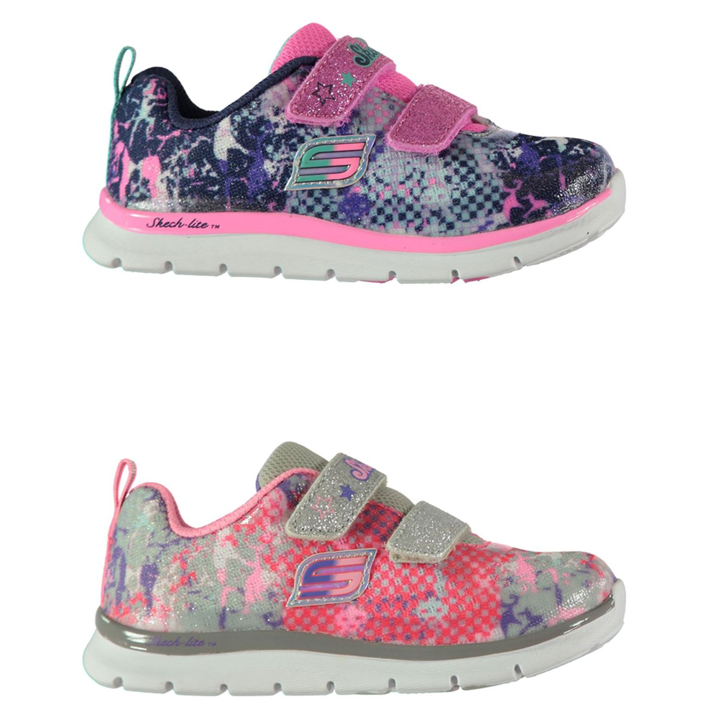 Details about Skechers Skech Lite Trainers Infant Girls Shoes Footwear