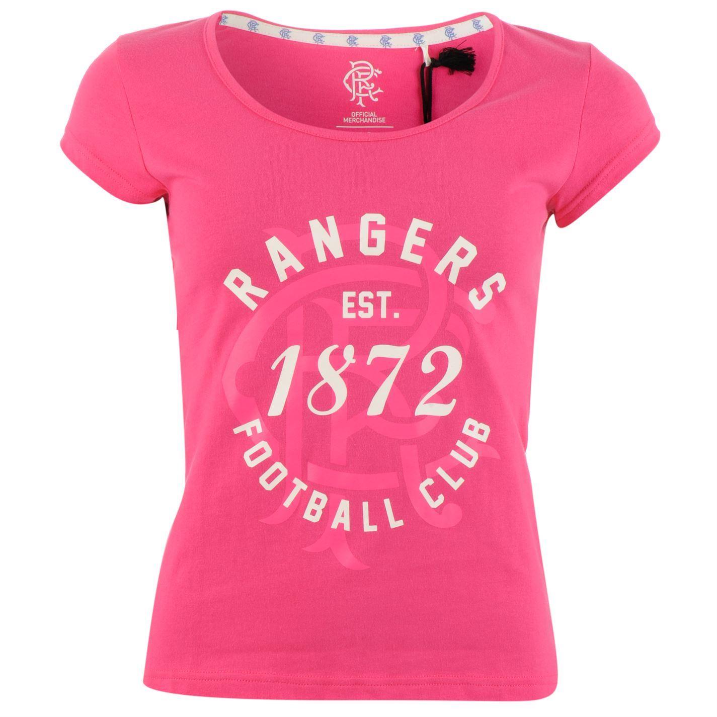 Glasgow Rangers Est. 1872 T-Shirt Womens Football Soccer Fan Top Tee Shirt  | eBay