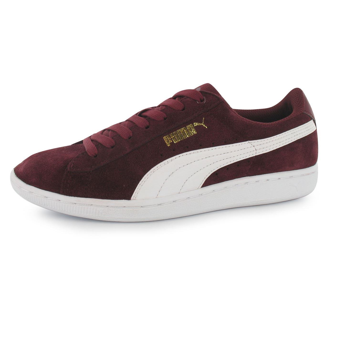 cca4045872cf ... Puma Vikky Suede Trainers Womens Cabernet White Casual Fashion Sneakers  Shoes ...