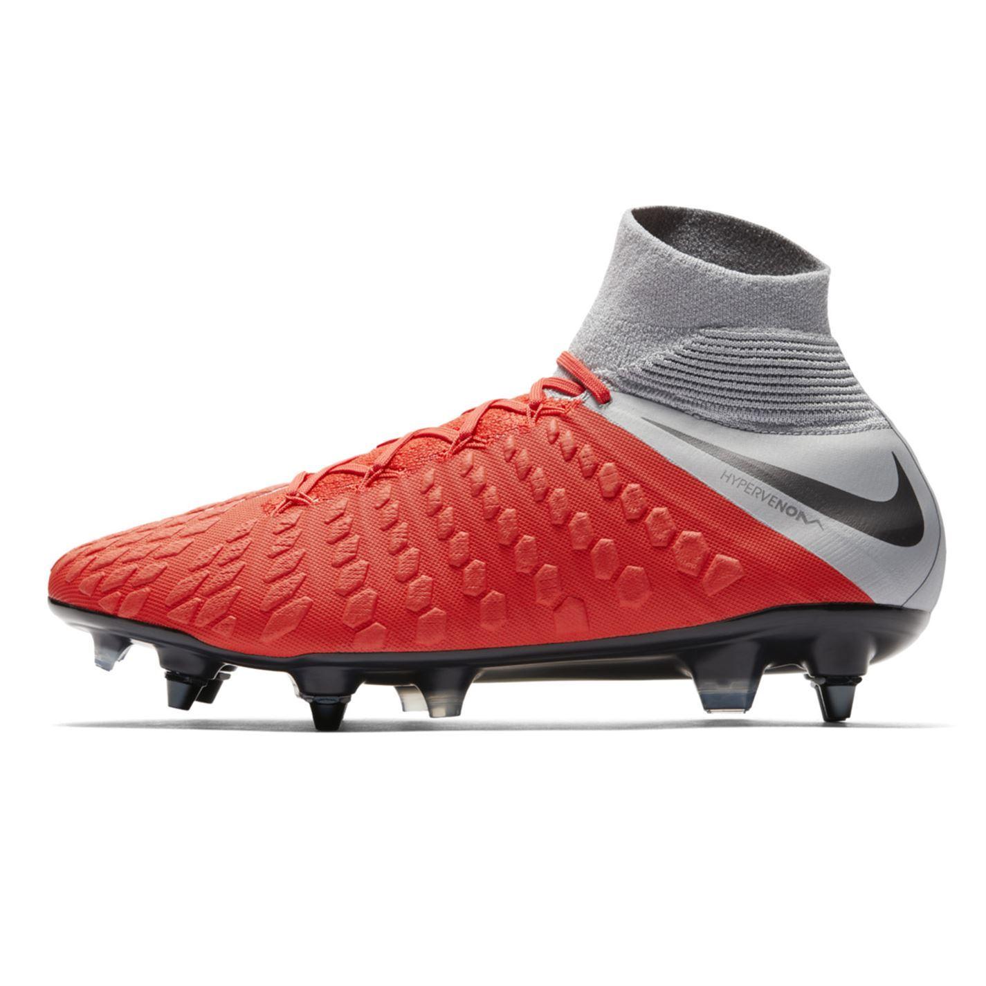 sale retailer 9c4f2 687f5 Details about Nike Hypervenom Phantom Elite Soft Ground Football Boots Mens  Red Soccer Cleats