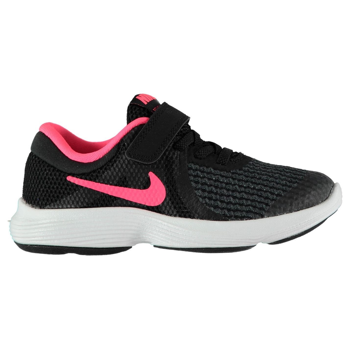 Girls Size 11,1.5,2 NIKE Sneakers  REVOLUTION 3  819417 Hook Loop Slip On