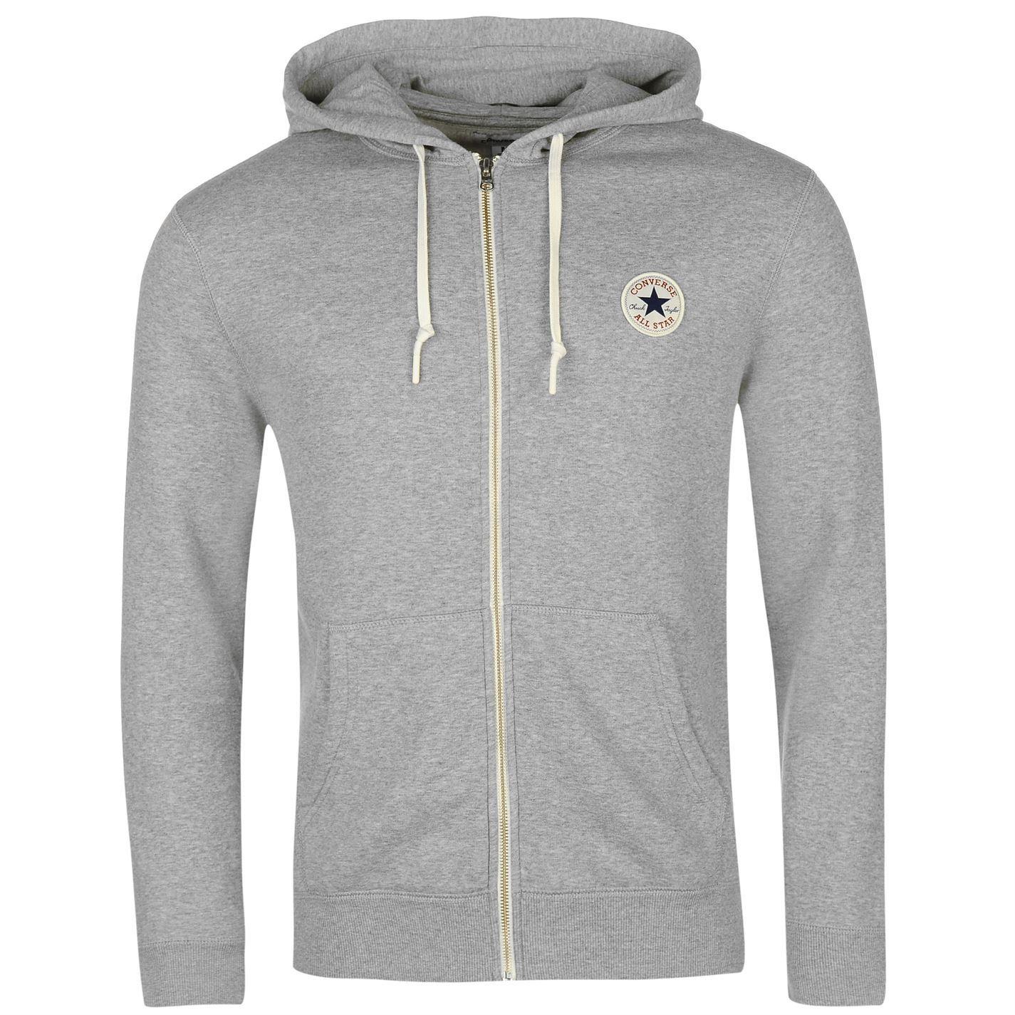 thumbnail 18 - Converse Core Full Zip Hoody Jacket Mens Hoodie Sweatshirt Sweater Hooded Top