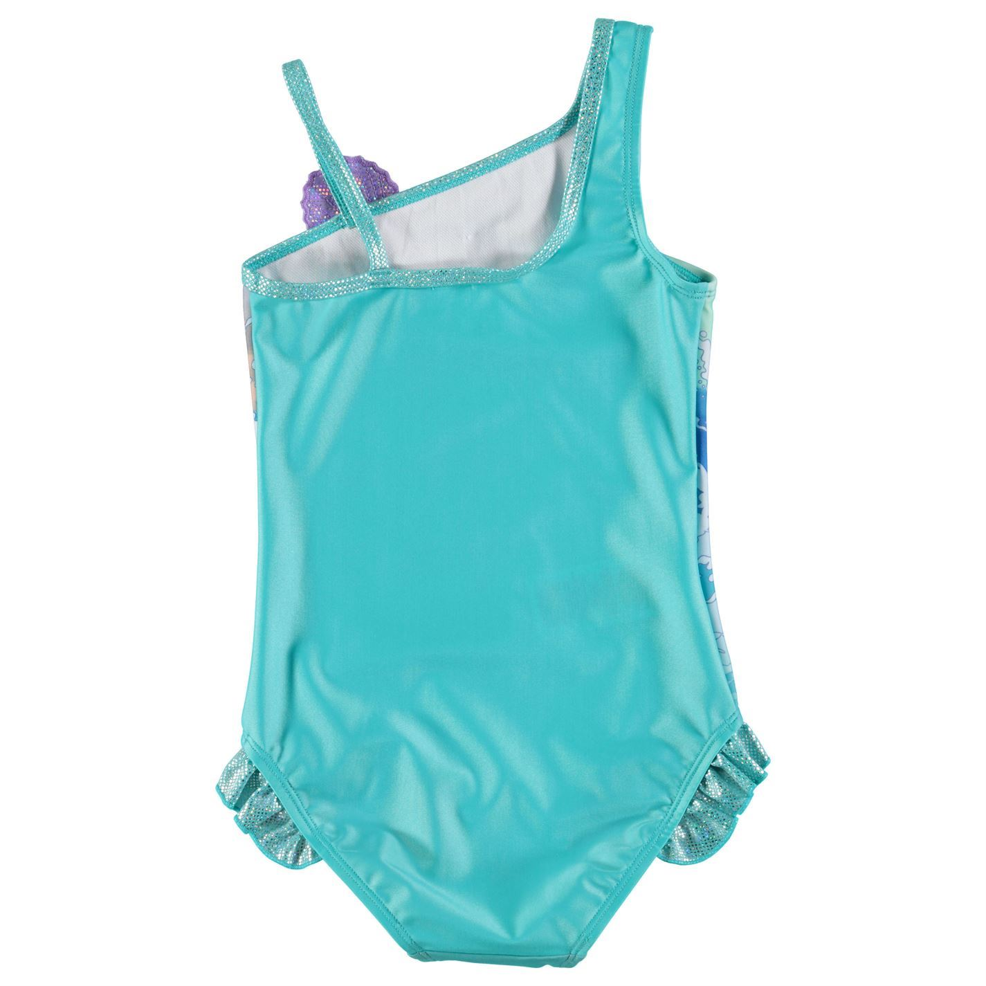 c2600d64d4 ... The Little Mermaid Ariel Swimsuit Infant Girls Aqua Swimming Costume  Beachwear ...